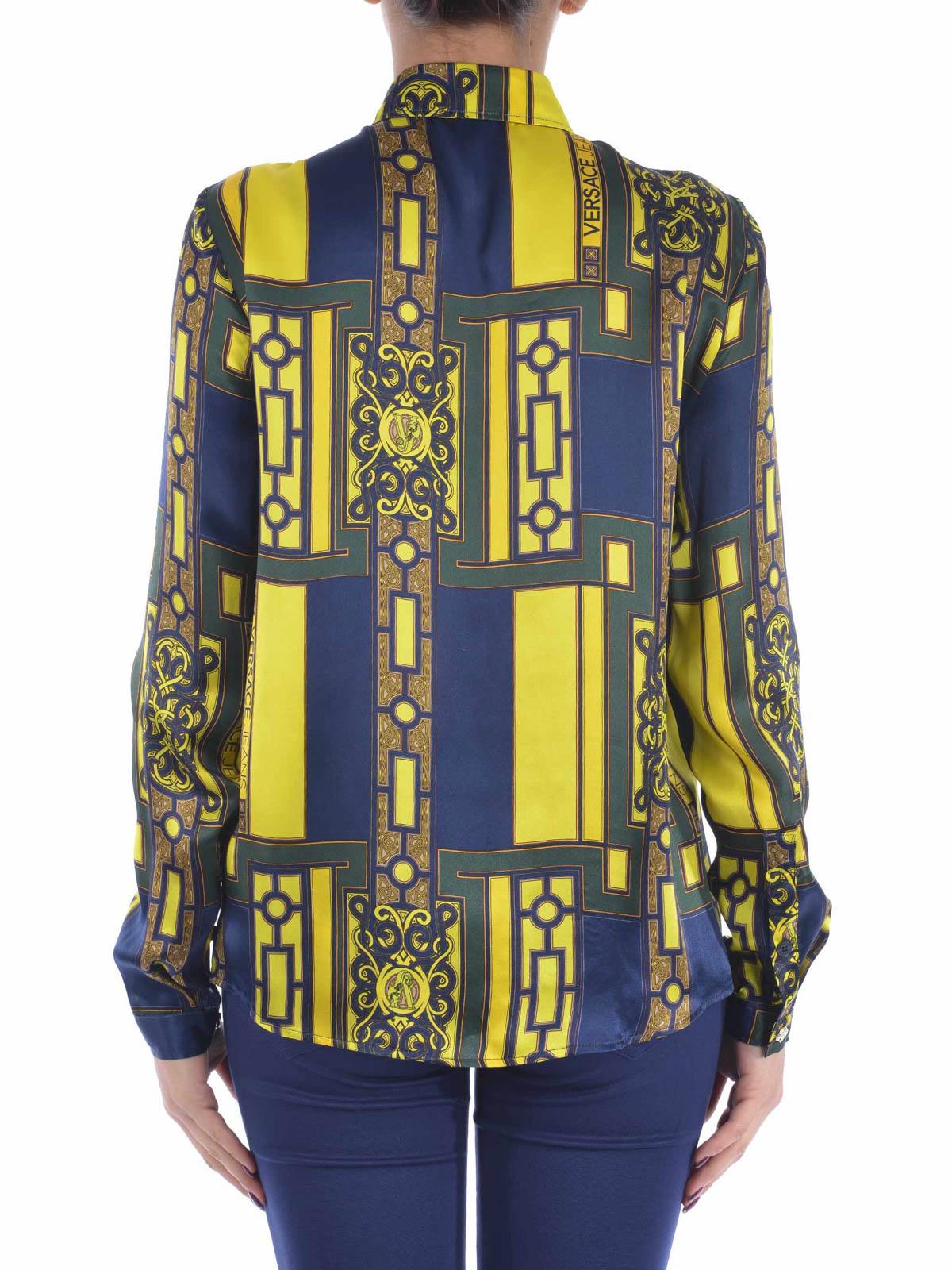 Versace - PRINTED SILK CLASSIC SHIRT - shirts - B0HMB609 ...