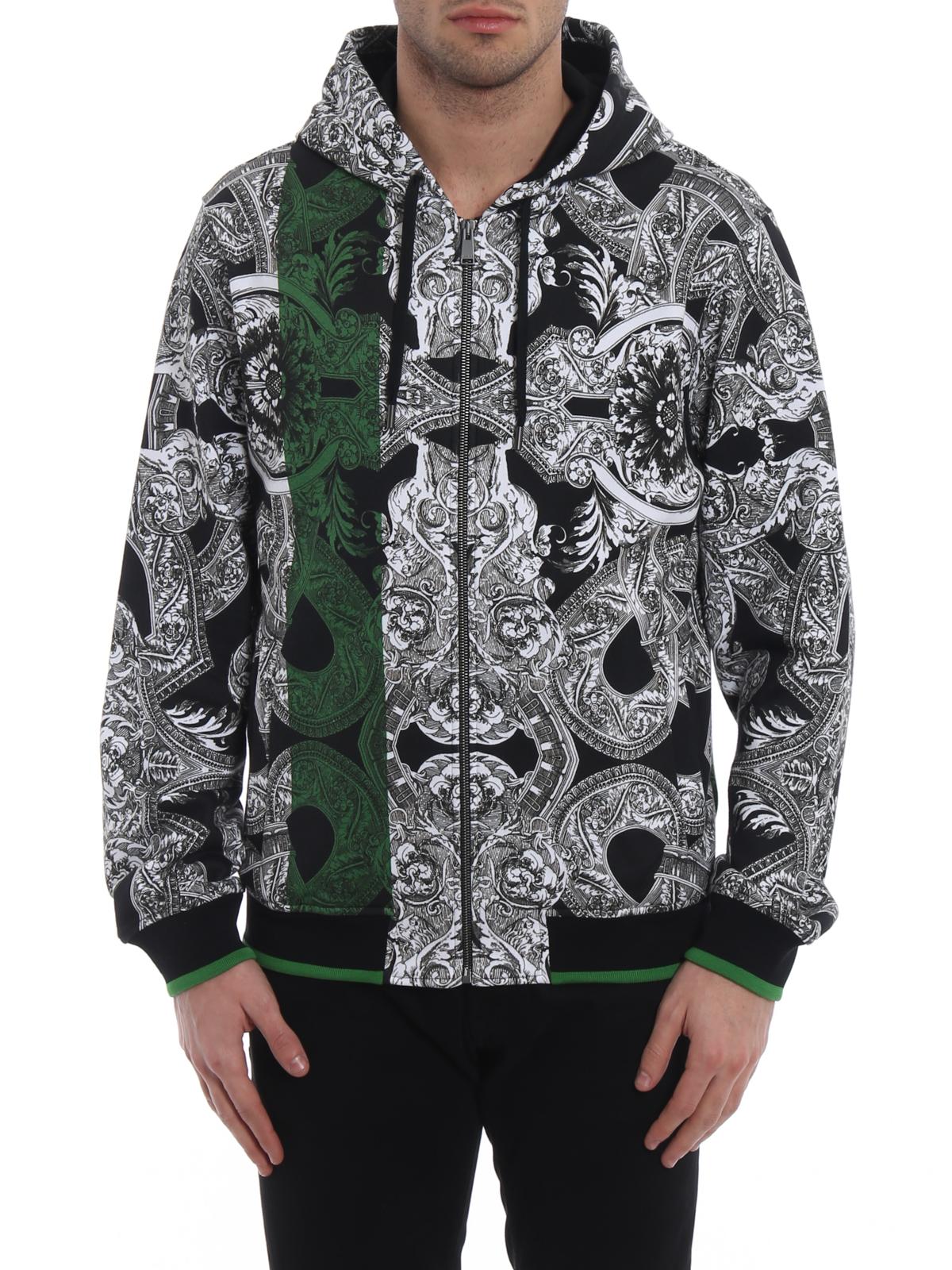 Versace Felpa con zip Barocco Istante Felpe e maglie