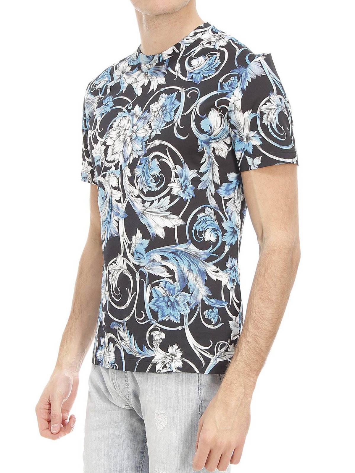 Versace - Baroque print T-shirt - t-shirts - A68988 ...