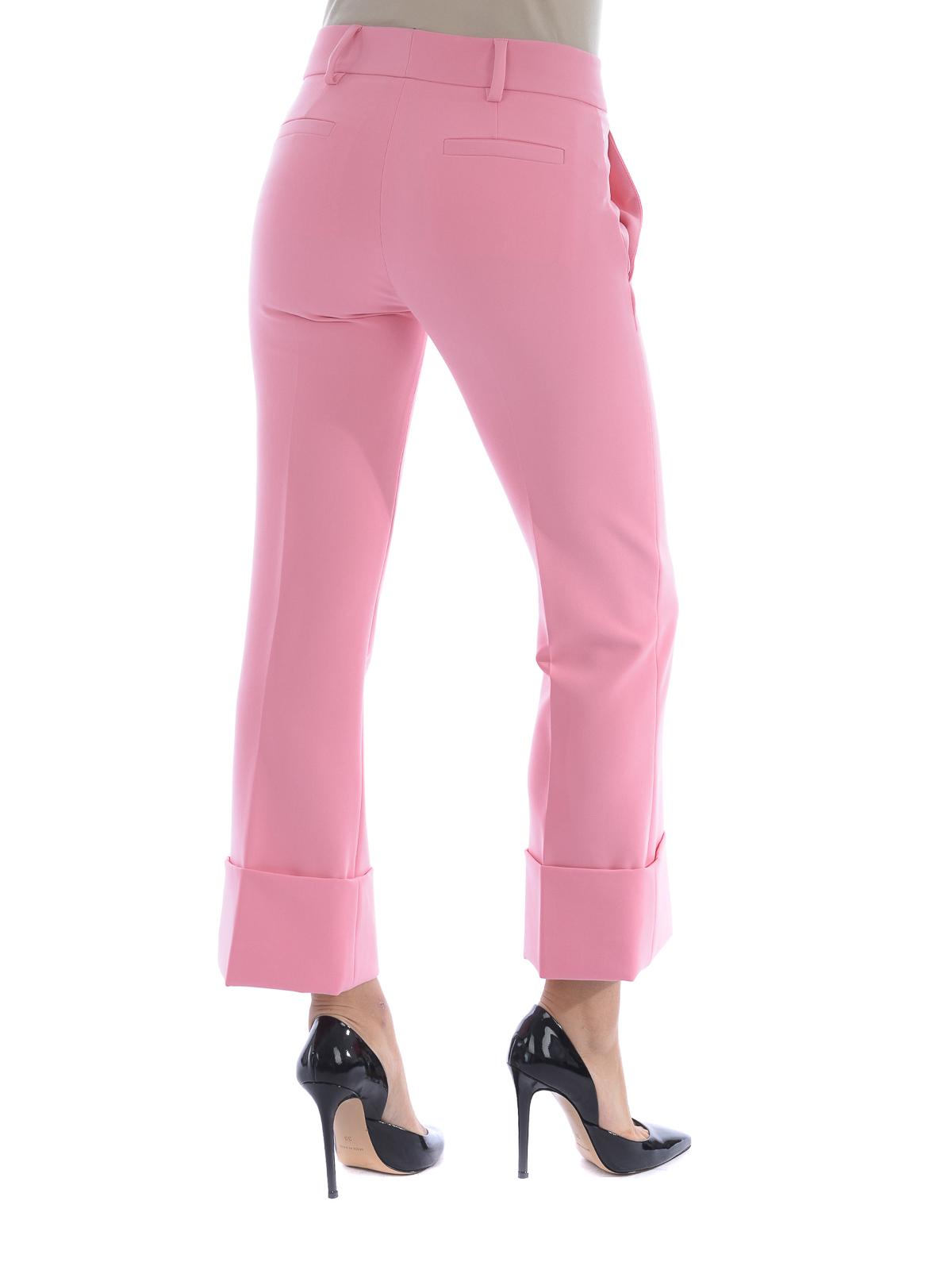 Versus Versace Pantalon De Traje Rosado Para Mujer Pantalones Casual Bd40329bt20861b1244