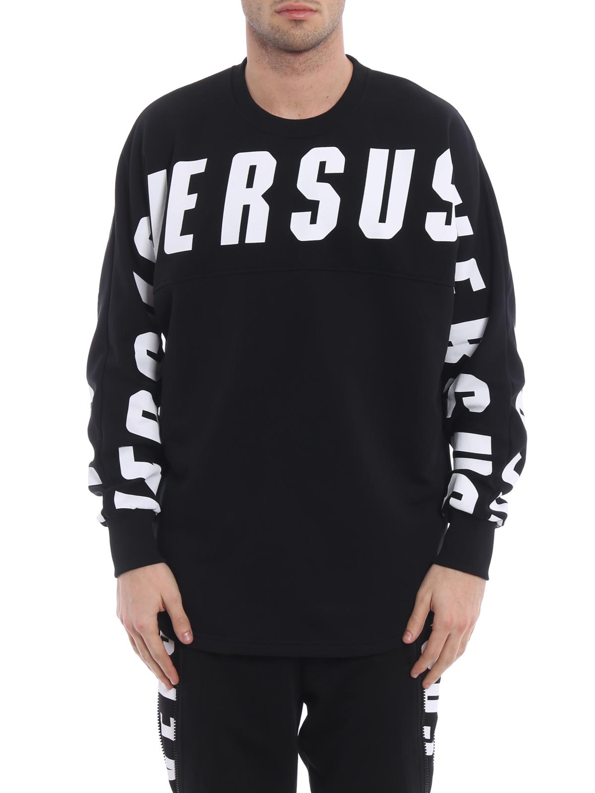 attraktive Farbe modisches und attraktives Paket große Auswahl an Designs Versus Versace - Contrasting logo black sweatshirt ...