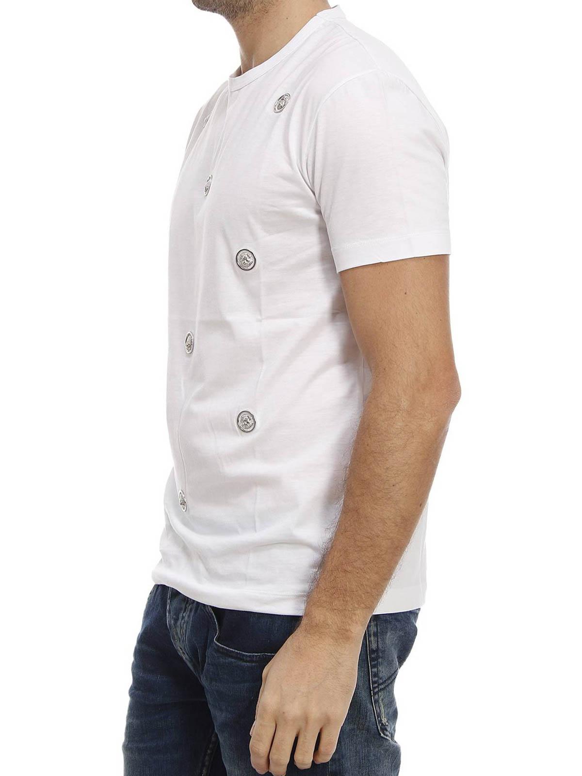 614a0253 Versus Versace - Lion Head studded T-shirt - t-shirts - BU90232 ...