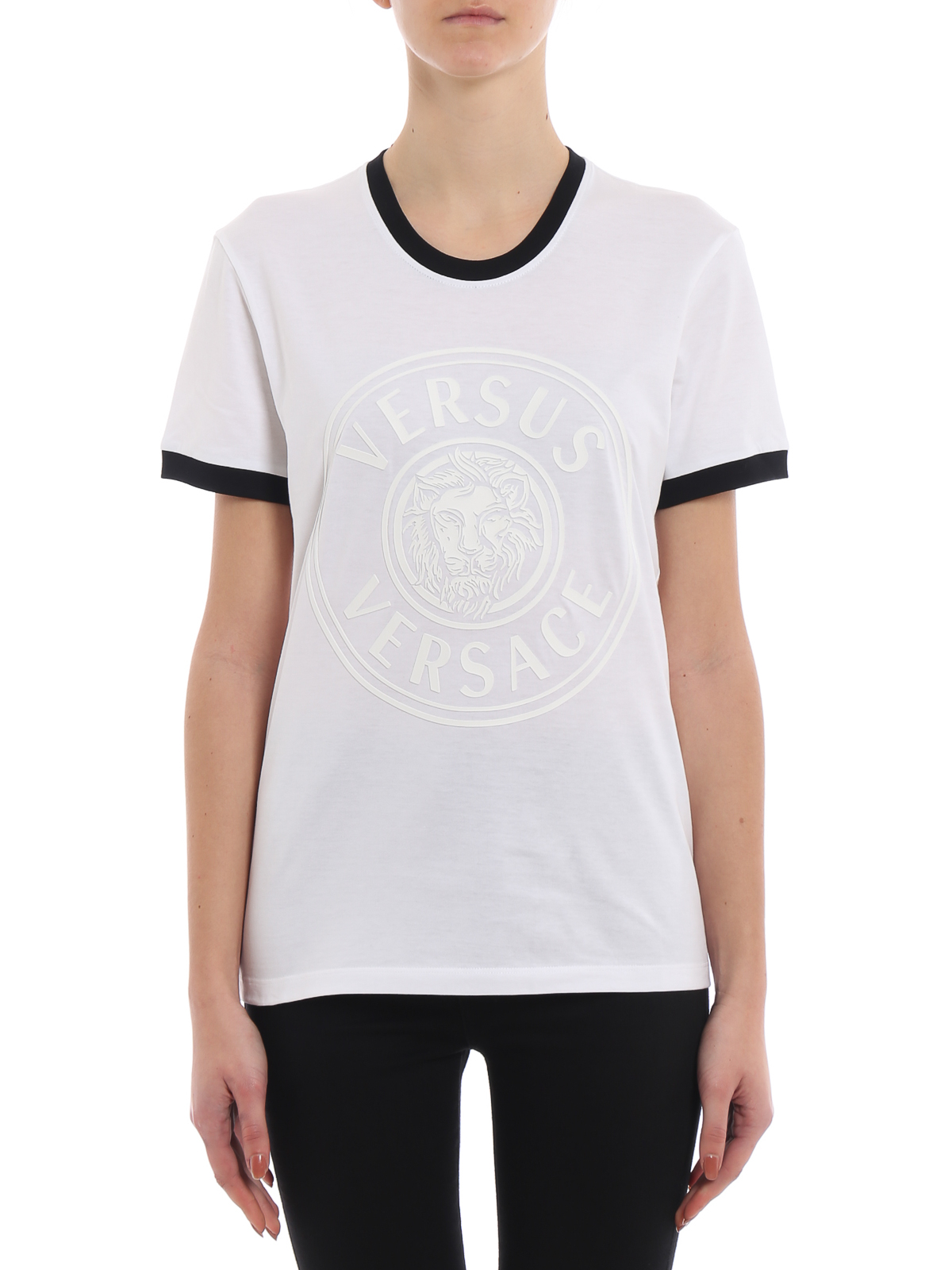 08beb957c86d2e iKRIX Versus Versace: t-shirts - Rubberized Lion Head white slim T-shirt