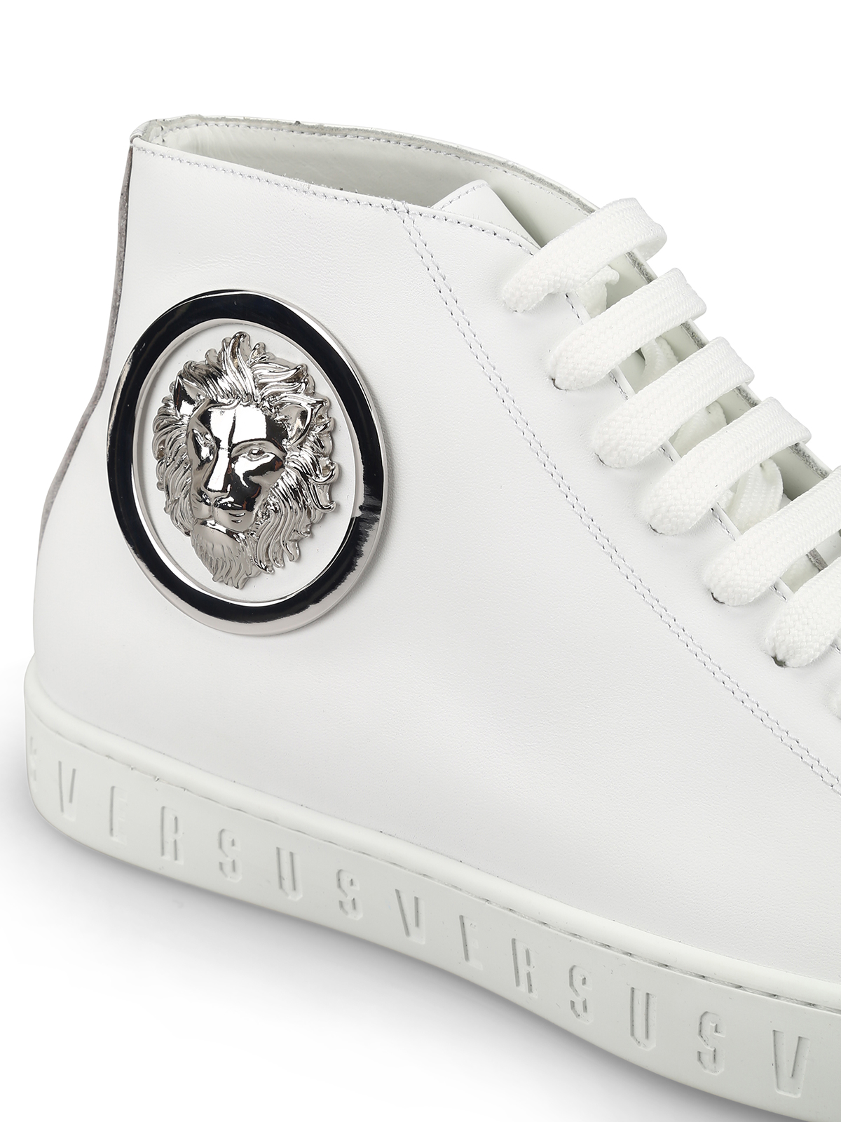 6d3c2b8f7c iKRIX Versus Versace: trainers - Lion Head high top white leather sneakers