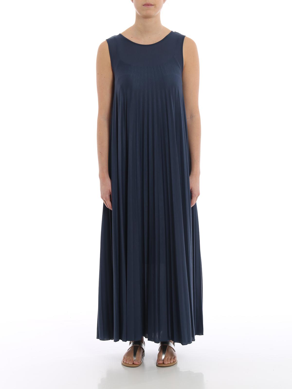 3ed6d1d702abf7 iKRIX WEEKEND MAX MARA  maxi dresses - Oggetti blue jersey maxi dress