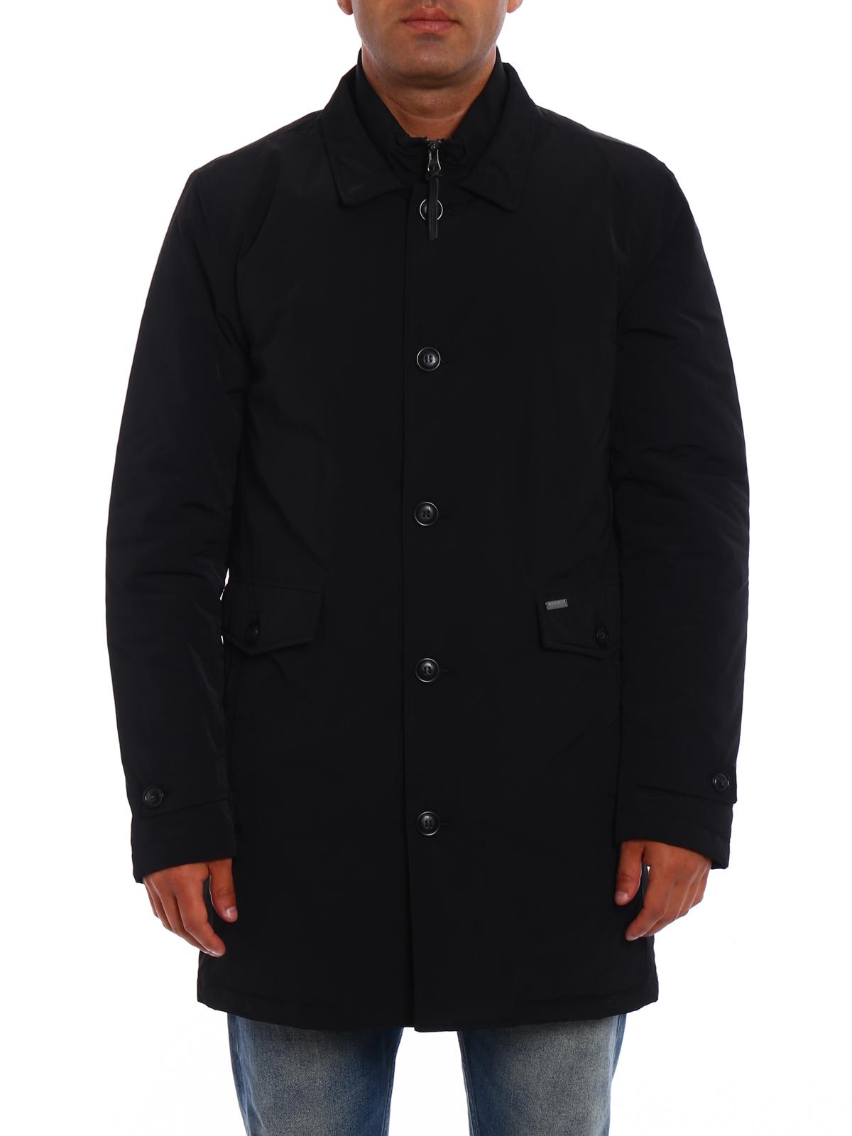 c9de1b9f8c6c iKRIX WOOLRICH  padded coats - Turner wind proof black warm coat