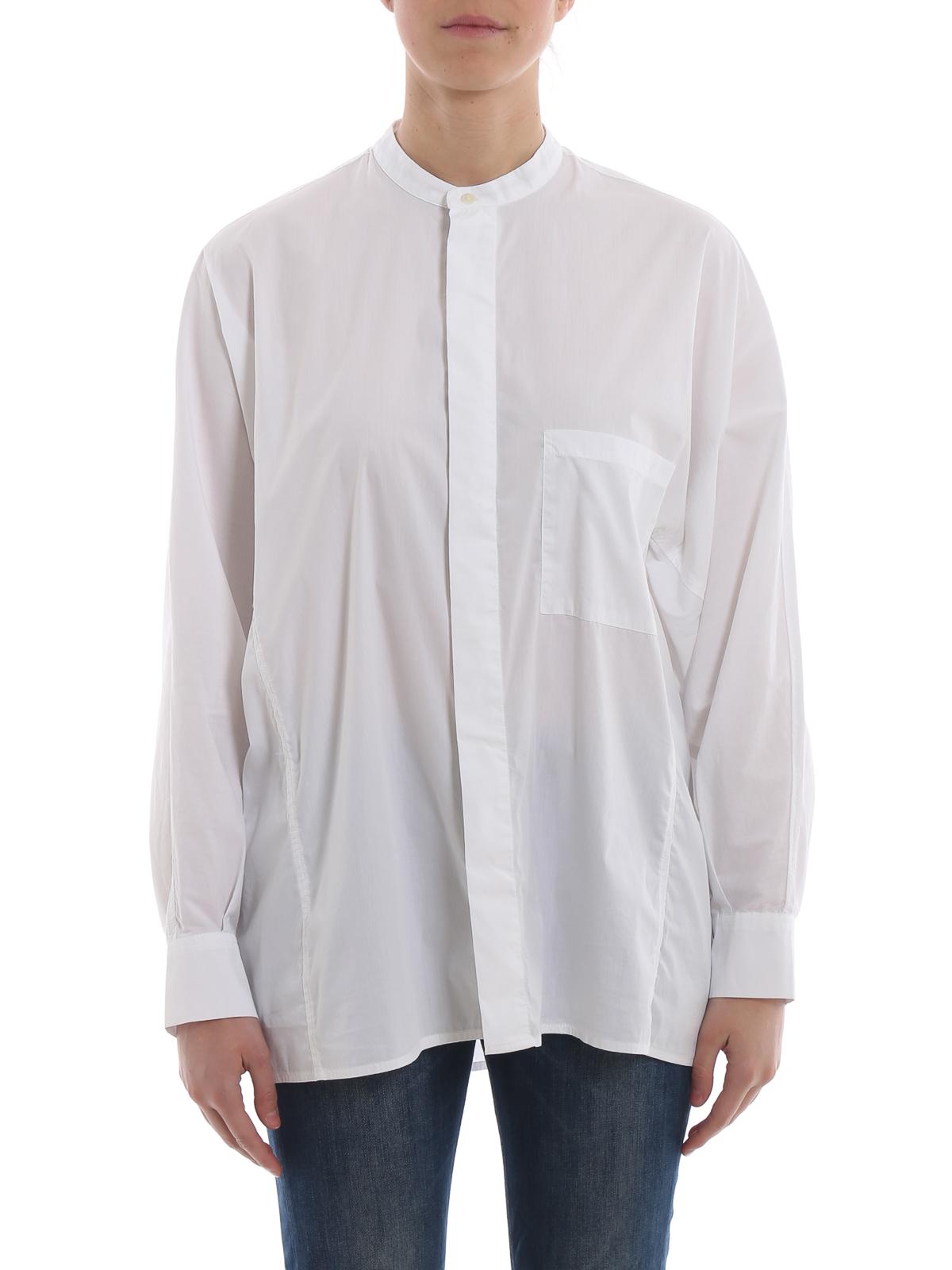 nuovo di zecca 5d404 81d23 Woolrich - Camicia in popeline con maniche a kimono ...