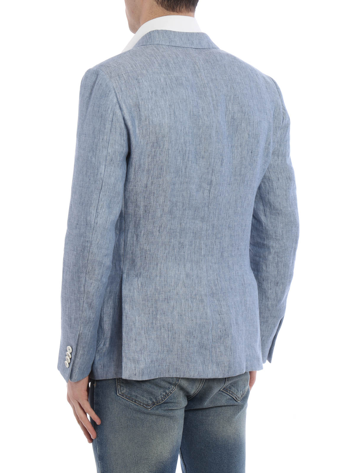 94fb4243 Z Zegna - Linen blend unstructured blazer - blazers - 973717 1DNMG0 SKY