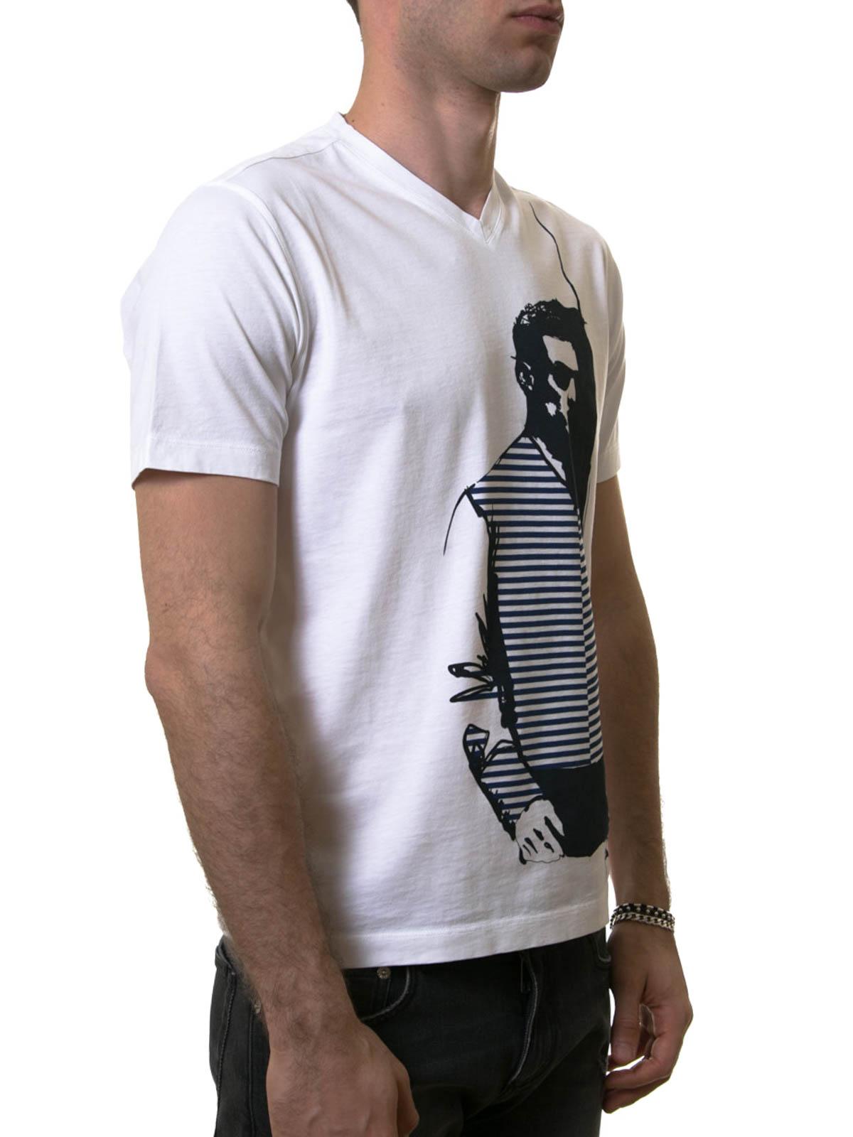 printed v neck t shirt by z zegna t shirts ikrix