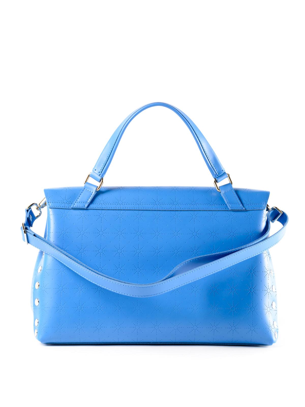 Zanellato Blue Astro Postina medium bag e9rPjVJ