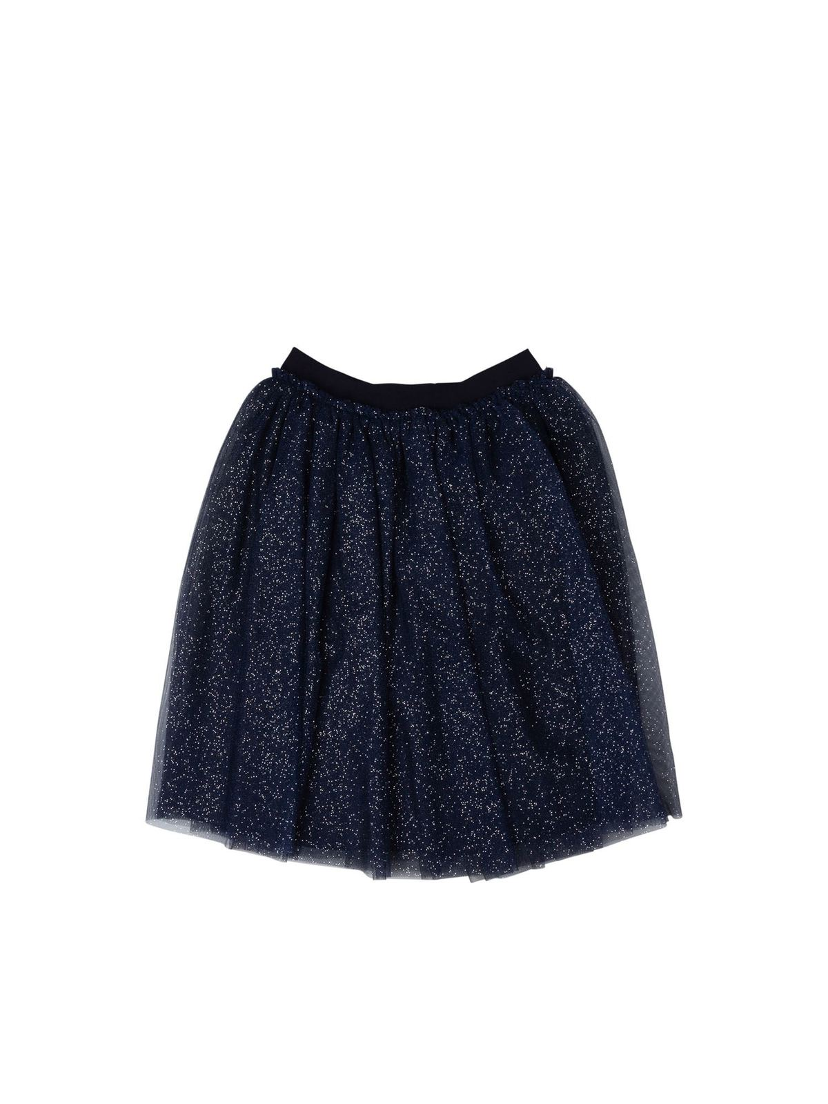 IL GUFO LAME SKIRT IN BLUE