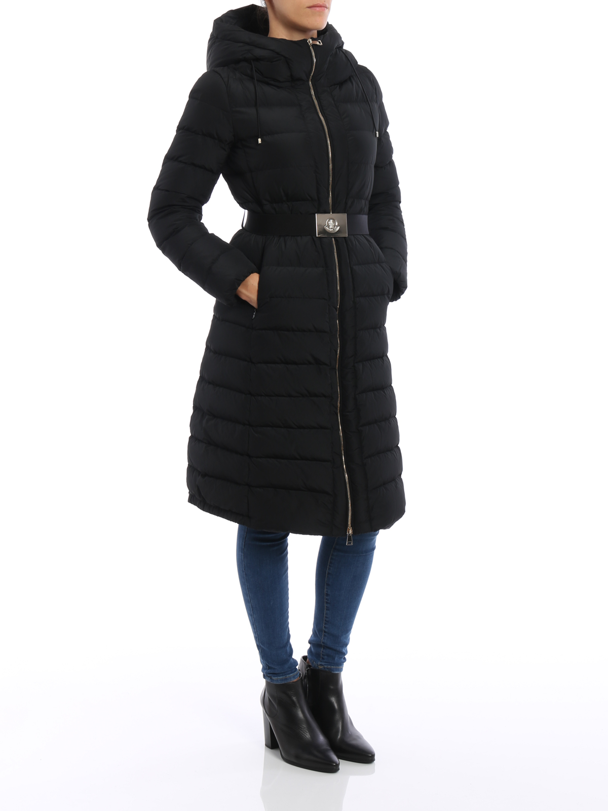 fae9c0a3b Moncler - Imin hooded belted long coat - padded coats - C2 093 ...
