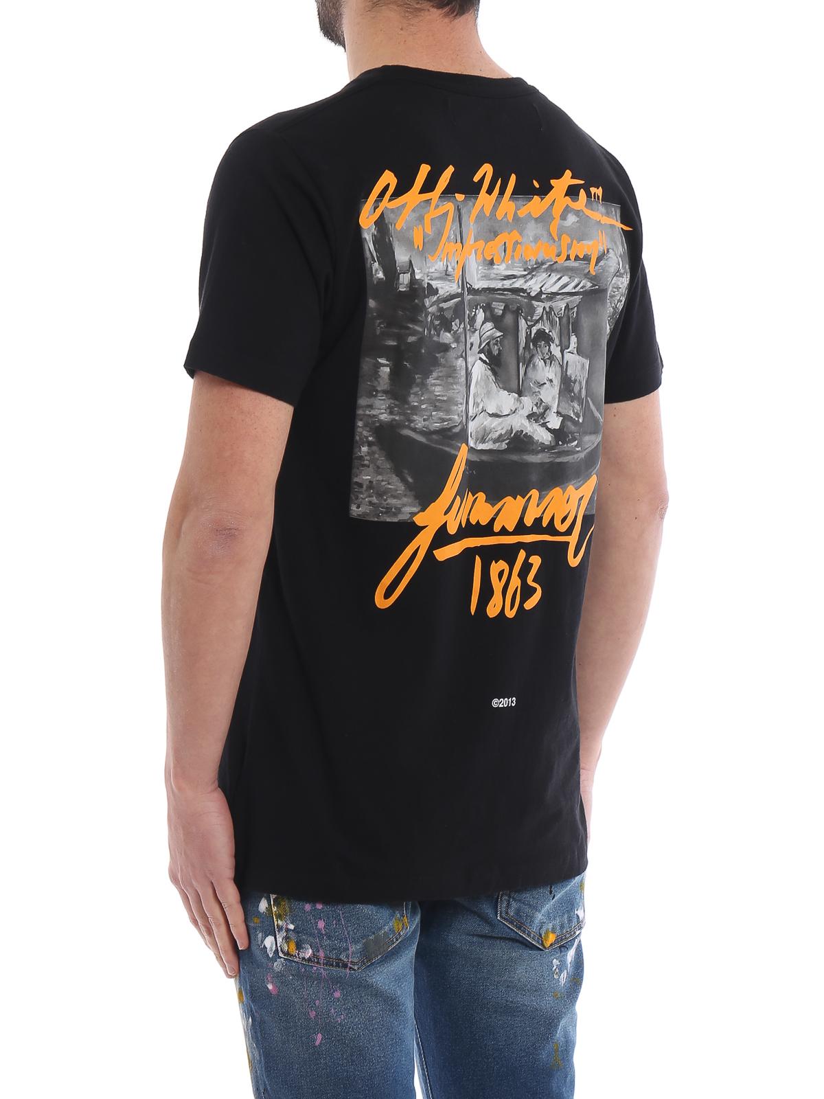 be1cca76cde Off-White - Impressionism short sleeve black slim Tee - t-shirts ...