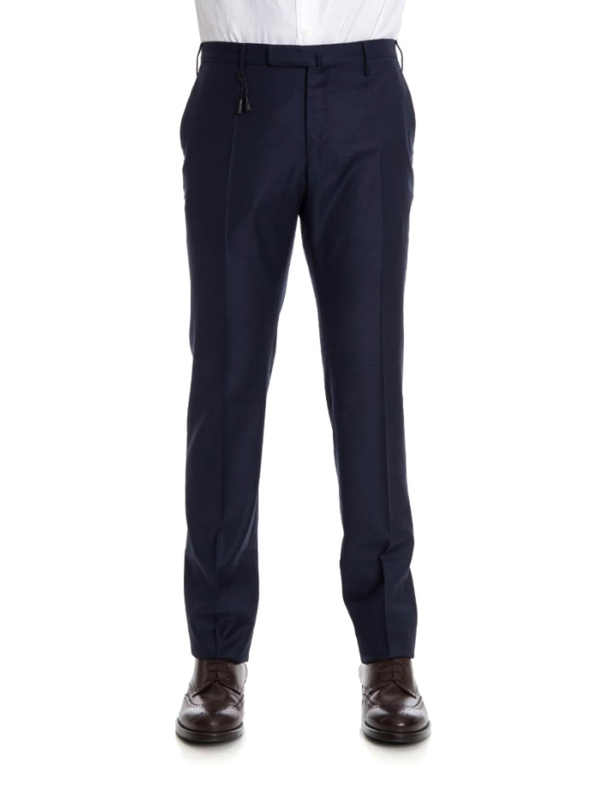 6934552612 INCOTEX  Pantalones de sastrerìa online - Pantalón De Vestir Azul Para  Hombre