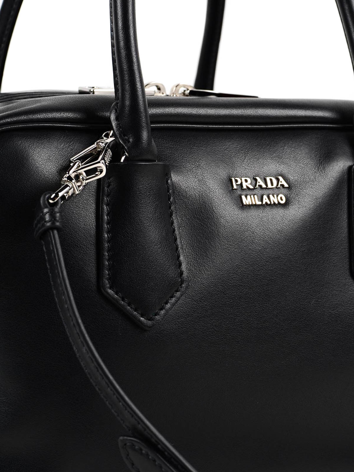 Inside soft leather bag by Prada - bowling bags | iKRIX