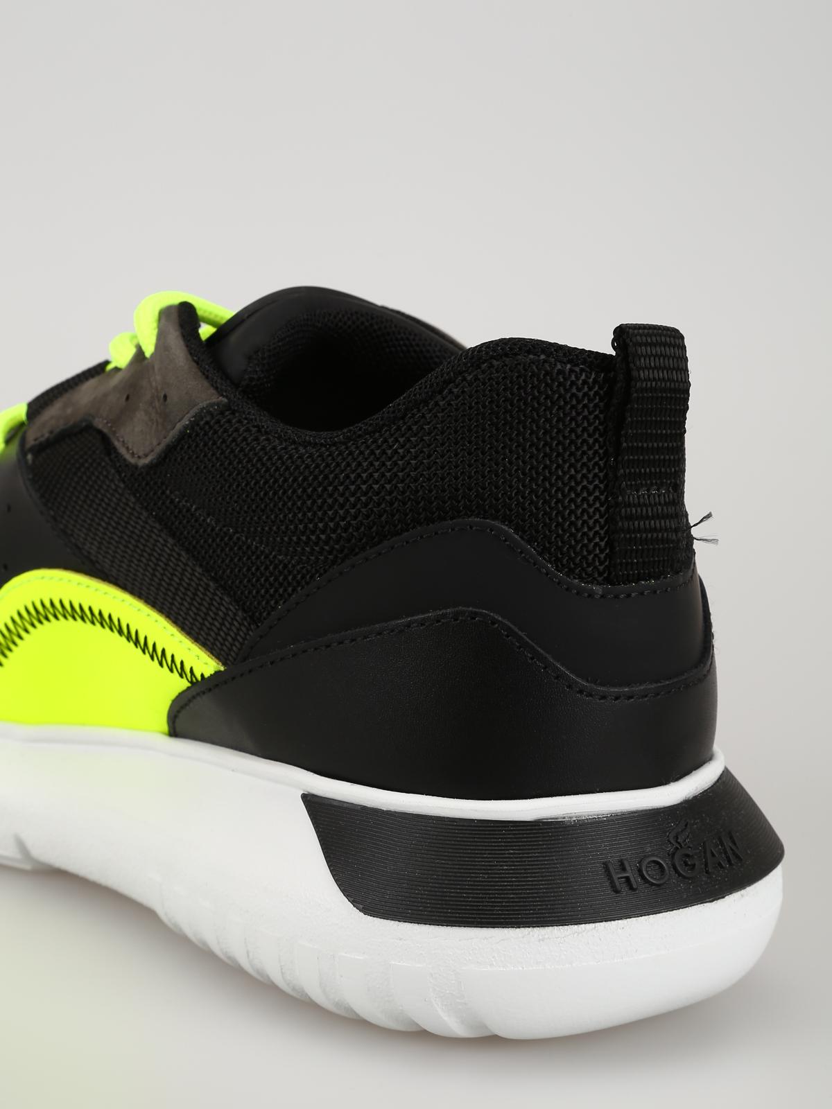 Hogan - Interactive³ nere con dettagli giallo fluo - sneakers ... 570de968f05