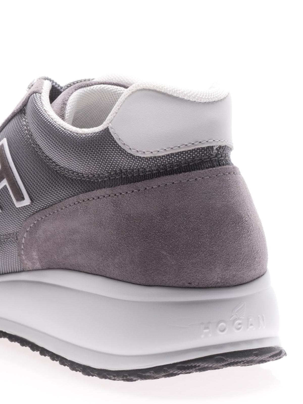Hogan - Interactive N20 grey suede sneakers - trainers ...