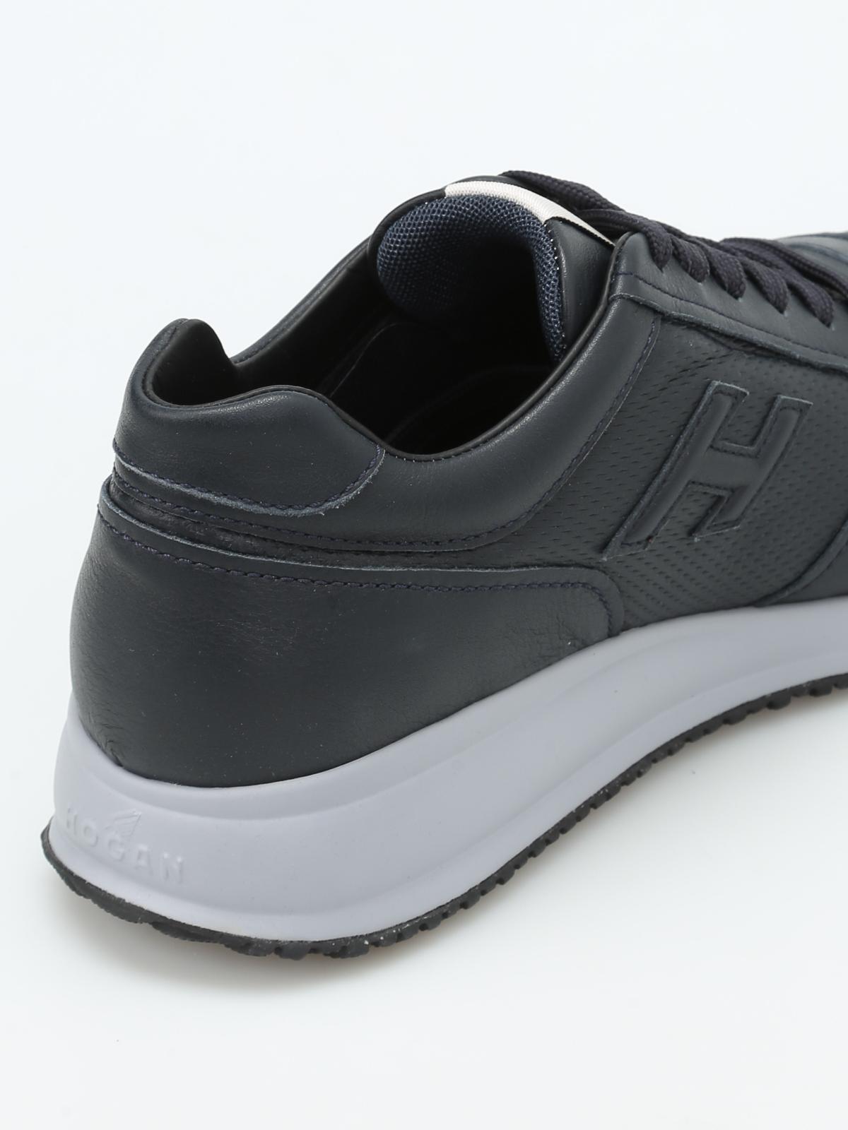 Trainers Hogan - Interactive N20 leather sneakers - HXM2460T790BTLU805