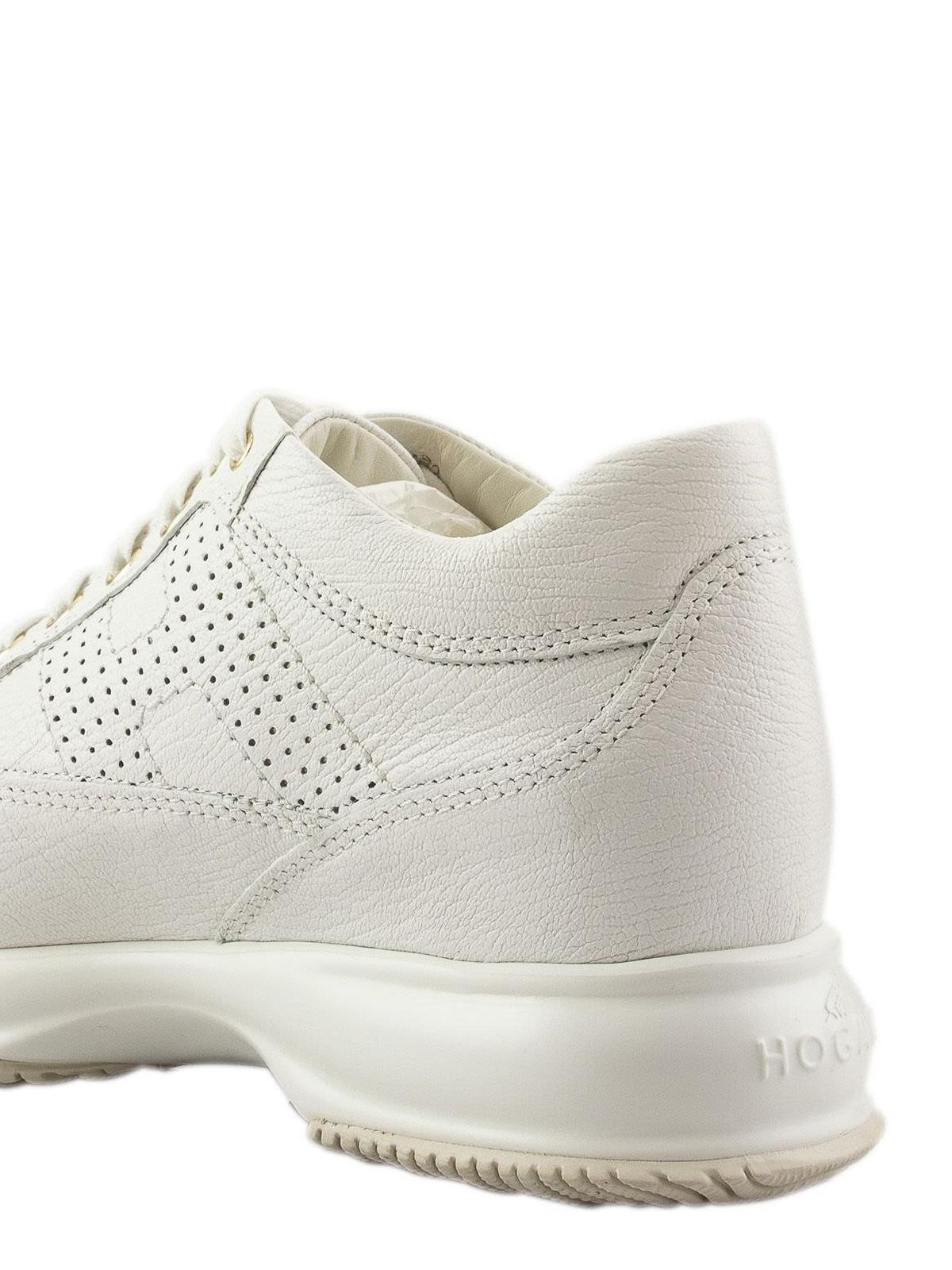 Hogan - Interactive bianca con H traforata - sneakers ...