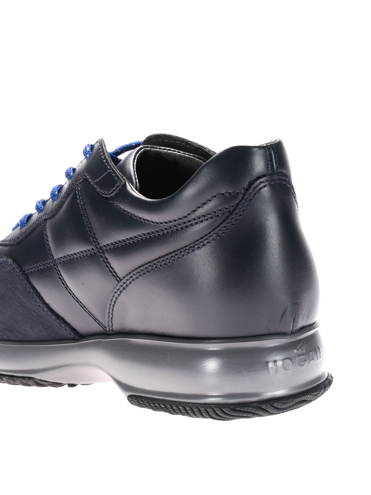Hogan - Interactive in pelle trapuntata blu - sneakers ... 5de0acdeffc