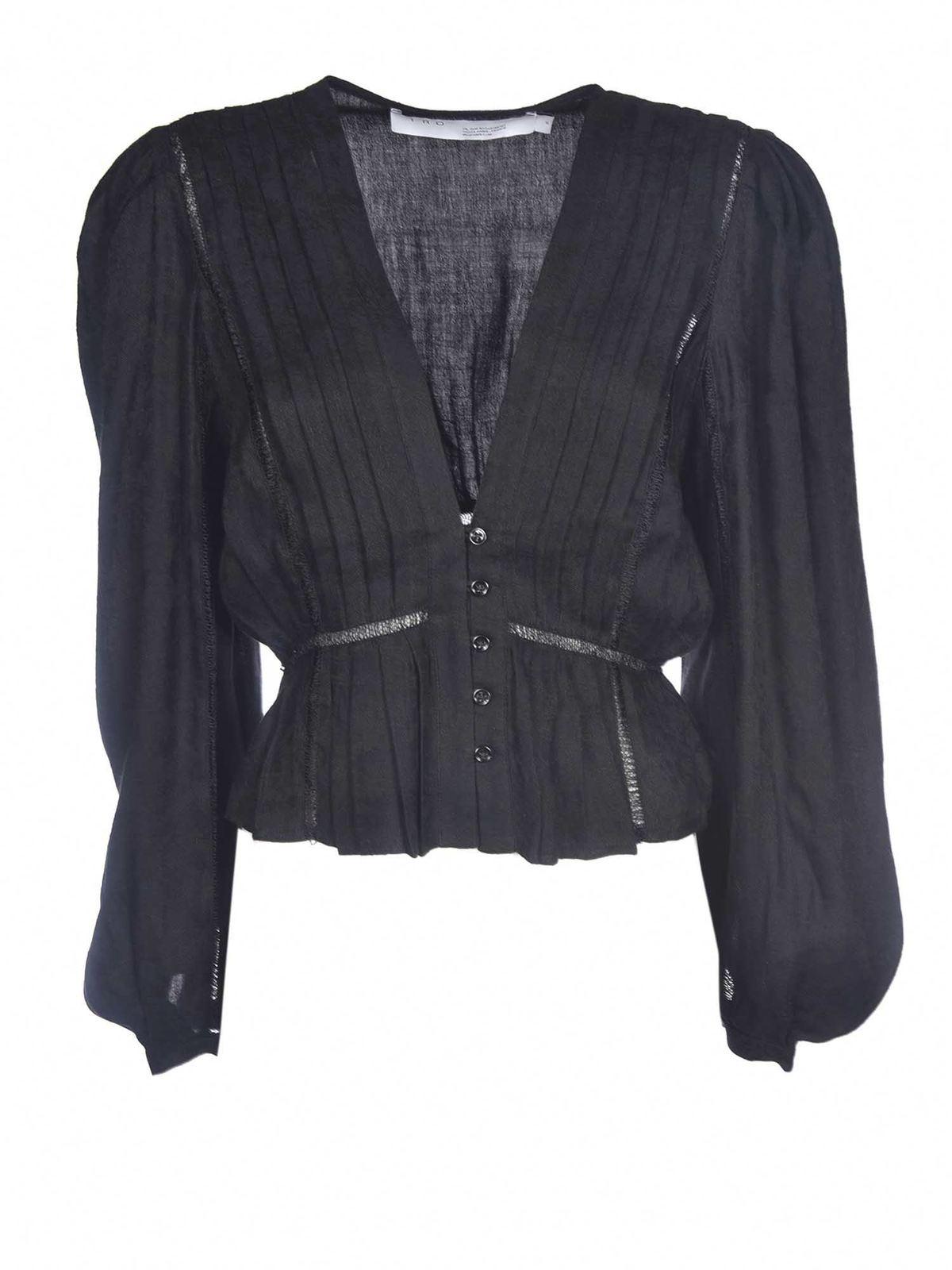 Iro Linens CHIRA SHIRT IN BLACK