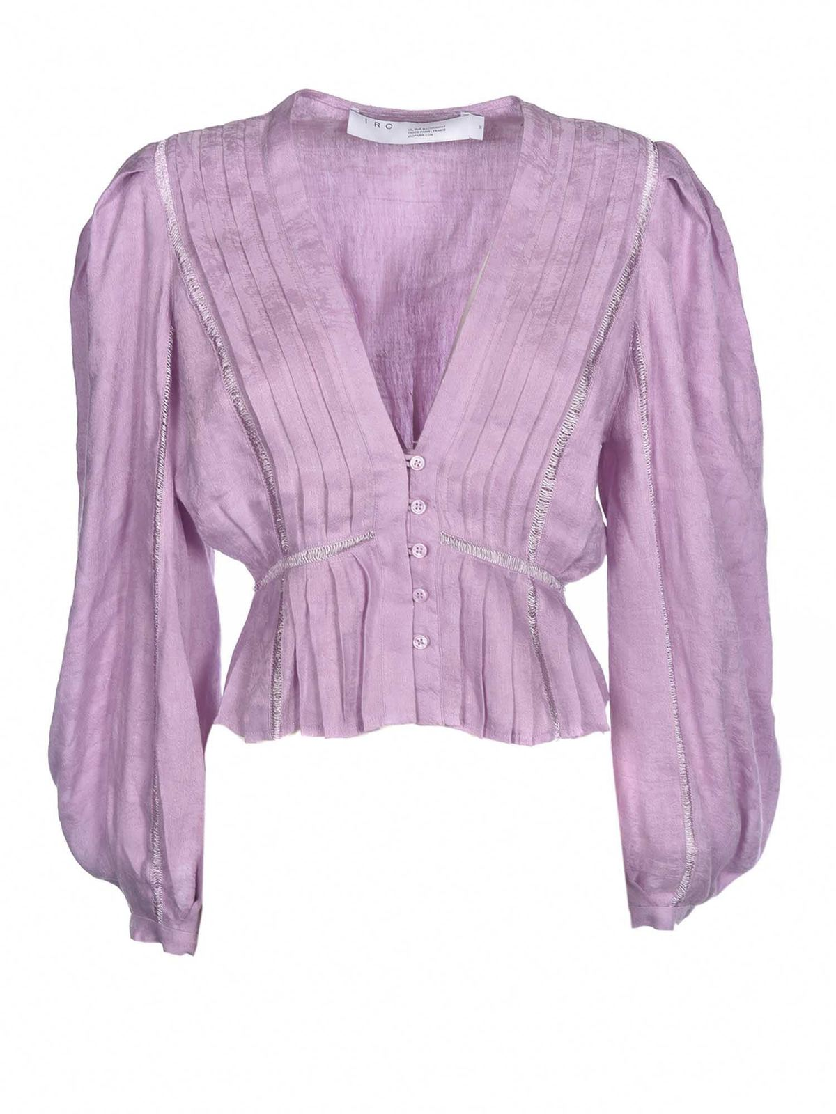 Iro Linens CHIRA SHIRT IN LIGHT PURPLE