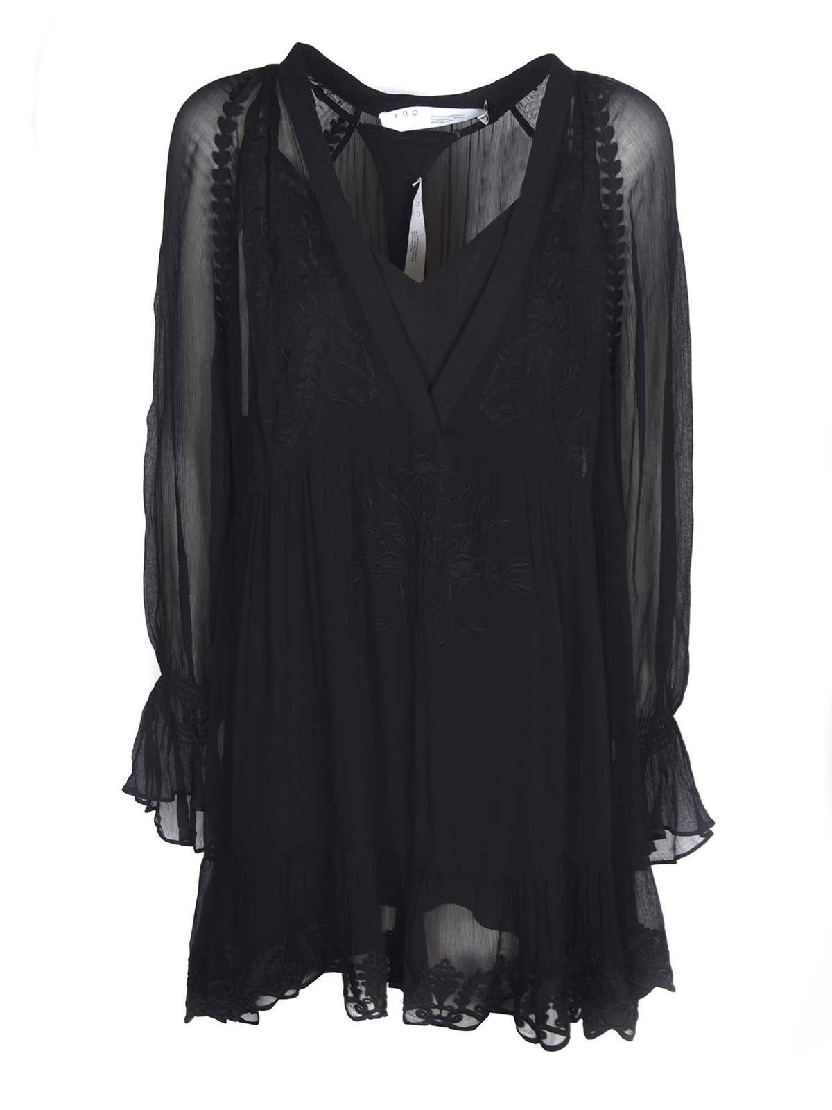 Iro Linings JOKO DRESS IN BLACK