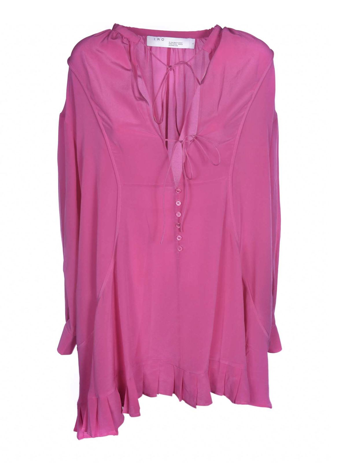 Iro Silks PINO DRESS IN FUCHSIA