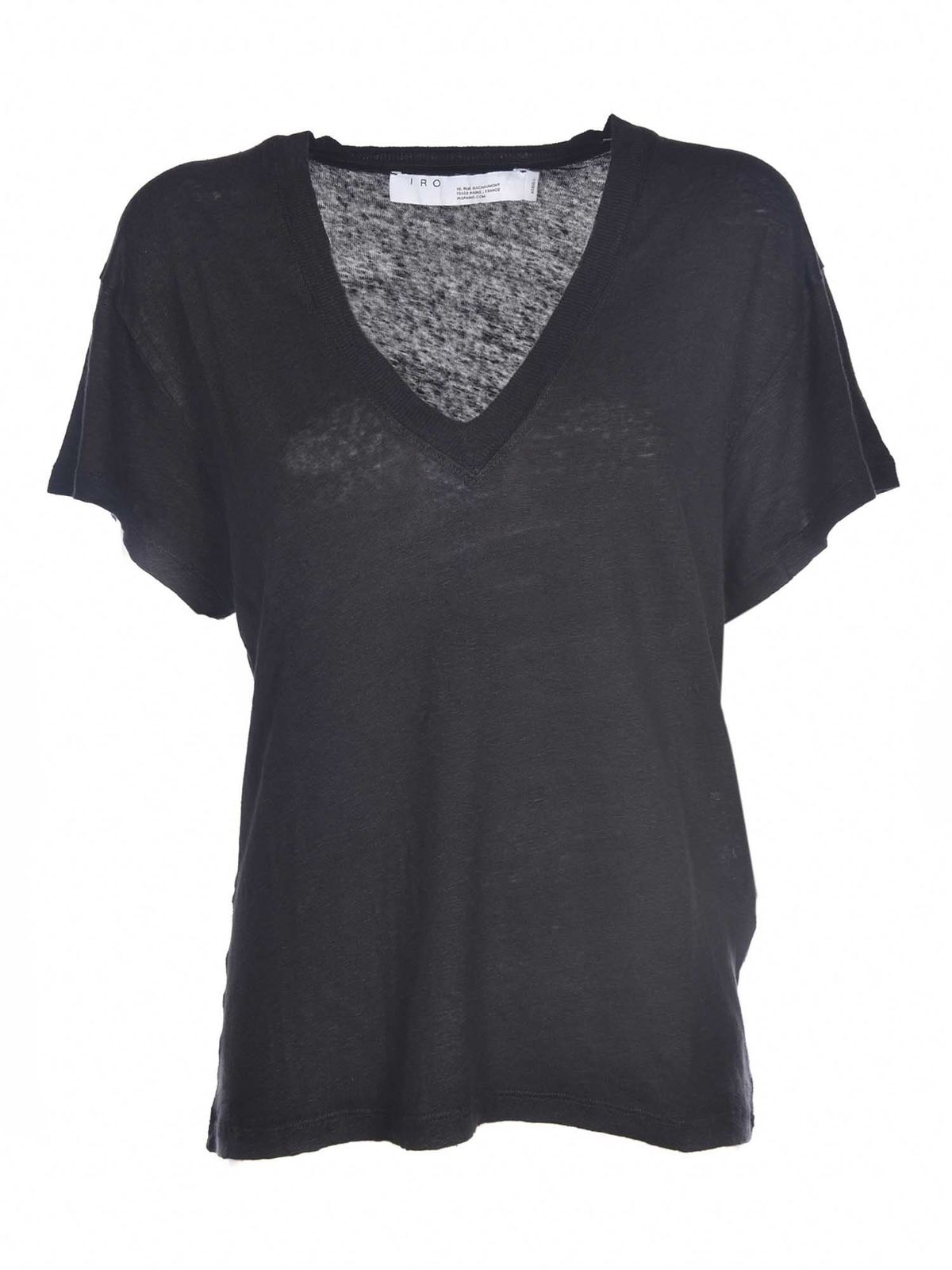 Iro HELOISE T-SHIRT IN BLACK