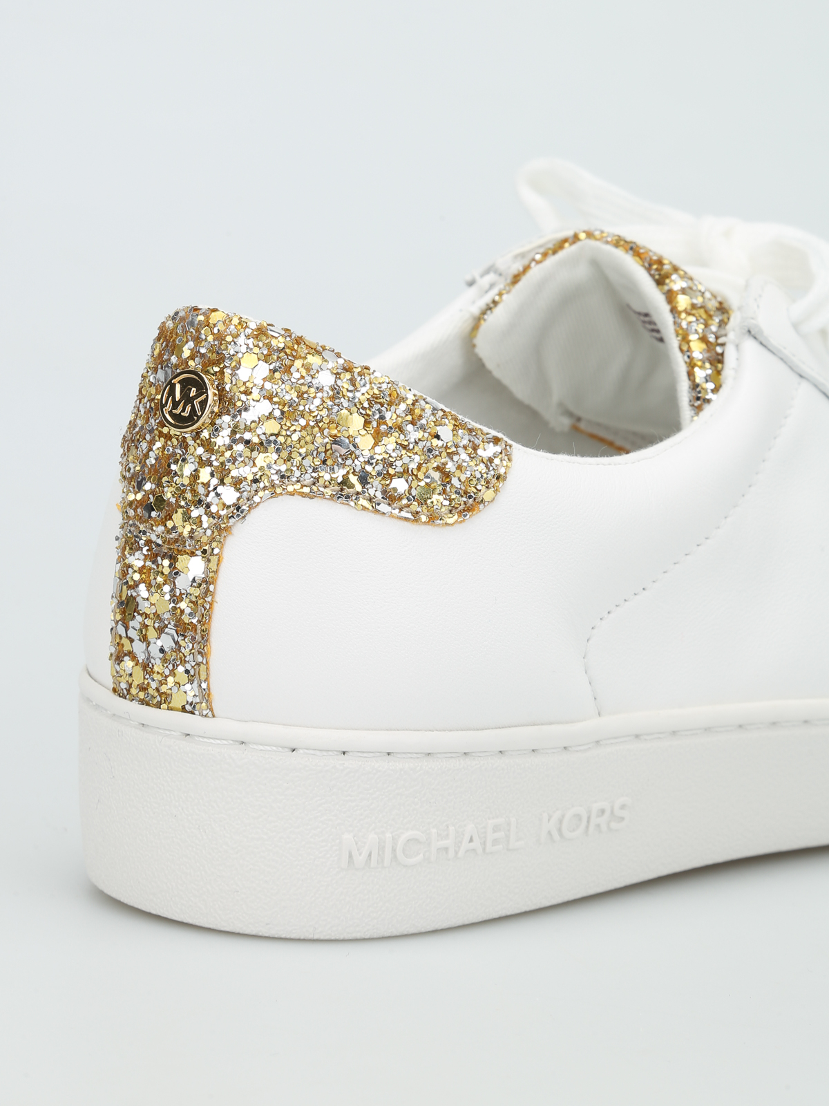 f0a4e2f49cc0 Michael Kors - Irving glitter leather sneakers - trainers - 43S6IRFS1L