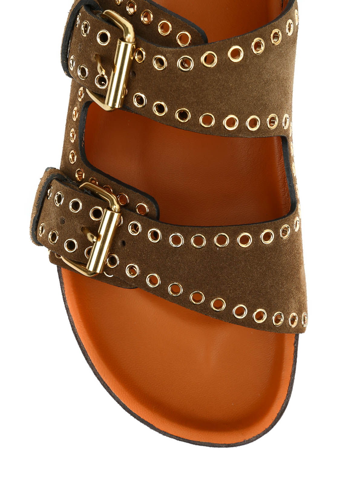 Isabel Marant Suede Grommet Sandals affordable cheap price 9fSFA
