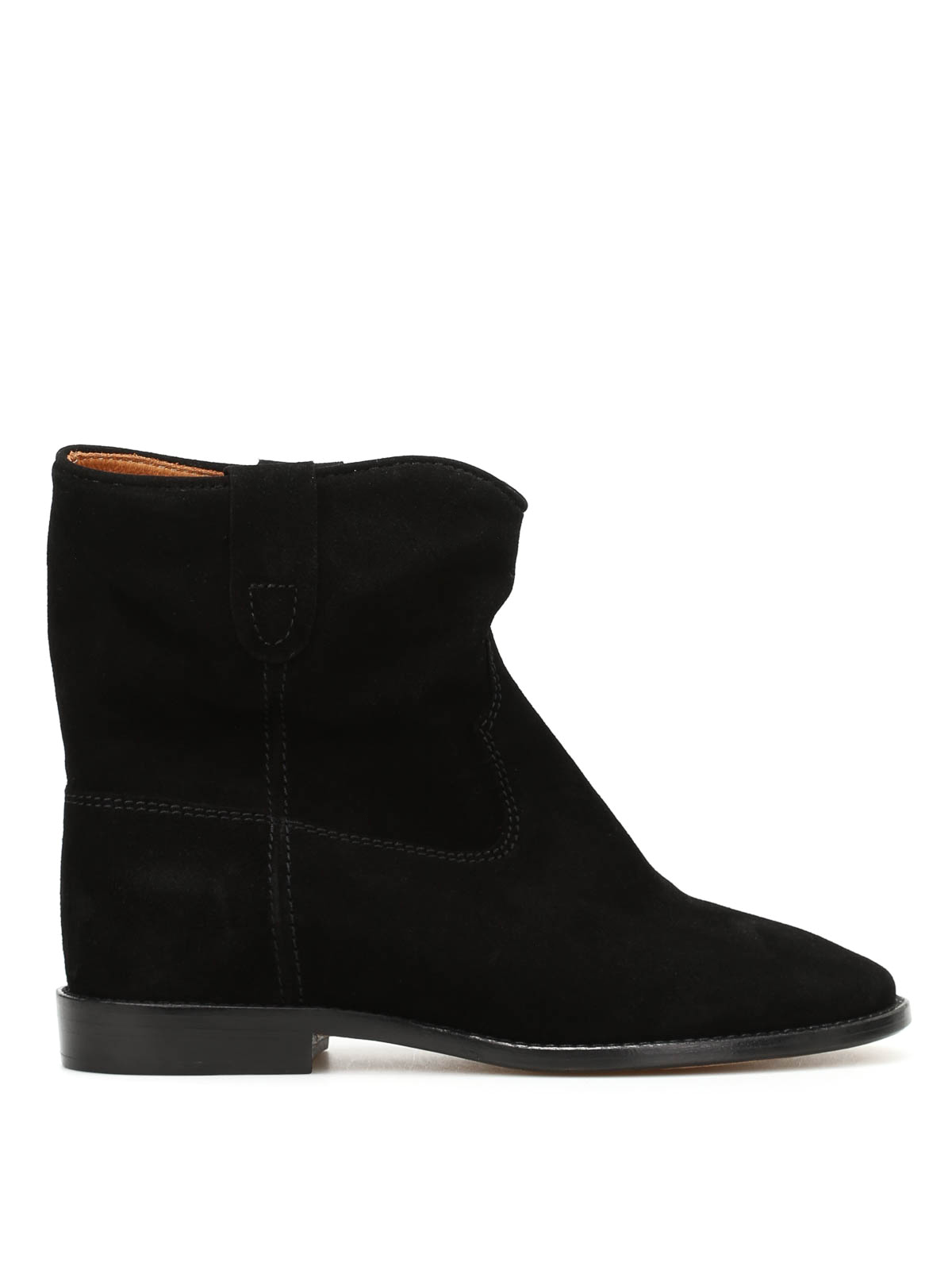 crisi suede slip on ankle boots by marant etoile