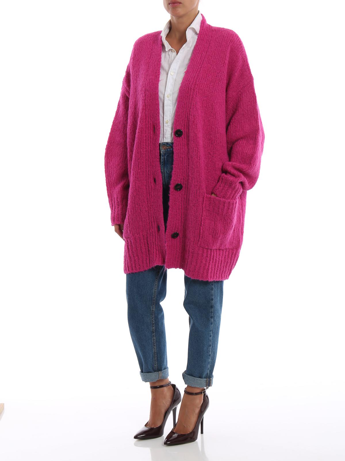 Isabel Marant Etoile  cardigans online - Sadlery pink drop alpaca blend  long cardigan 2e047cf13