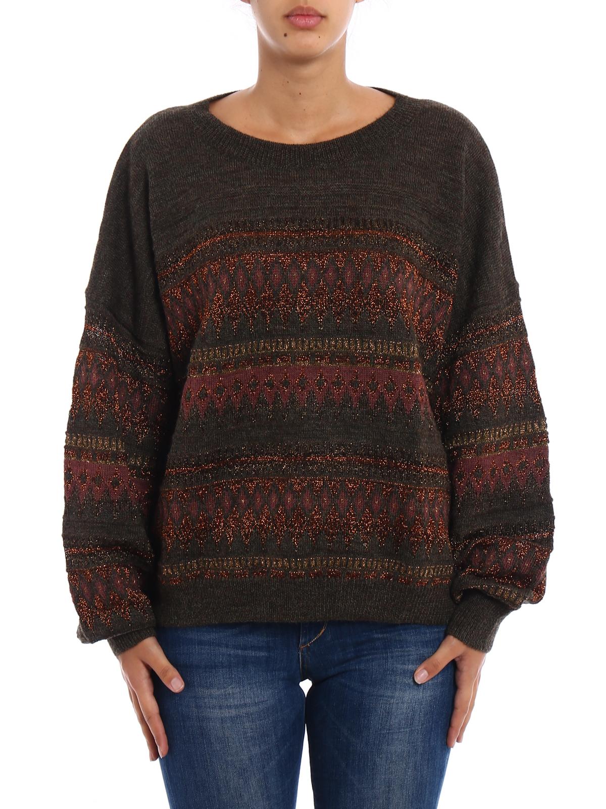 c73fe903234 Isabel Marant Etoile: crew necks online - Berwick lurex inserts boxy sweater