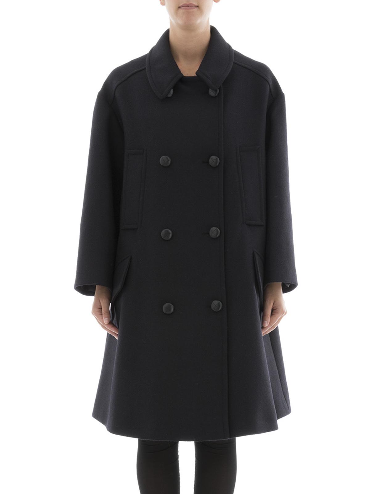 Isabel marant etoile - Flicka double-breasted over coat - long coats - MA026317A007E30DM