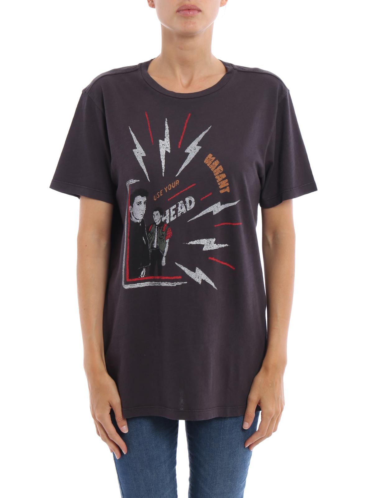 68feb196 Isabel Marant Etoile: t-shirts online - Dewel print T-shirt