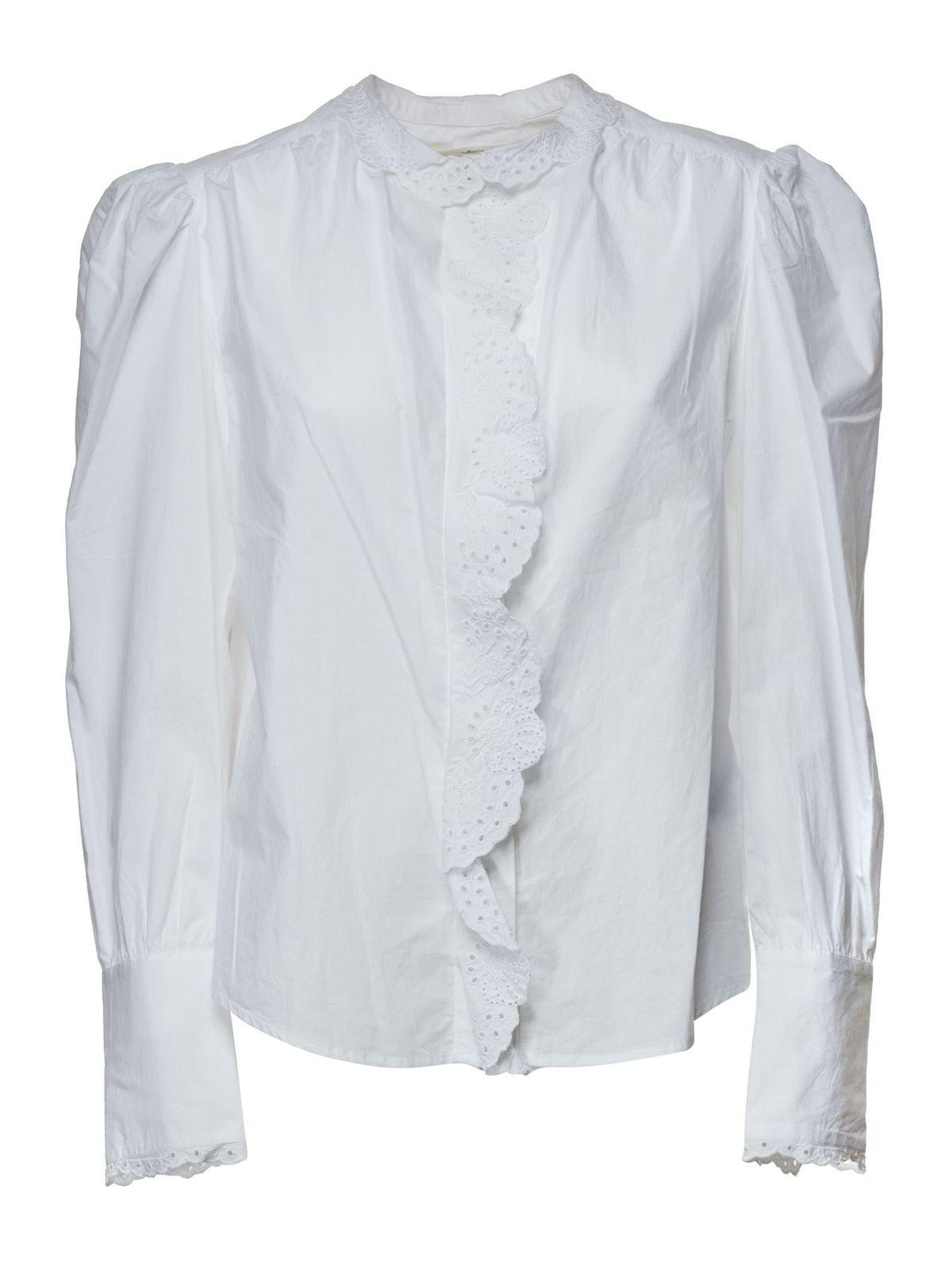 ISABEL MARANT ÉTOILE ORLANA SHIRT IN WHITE