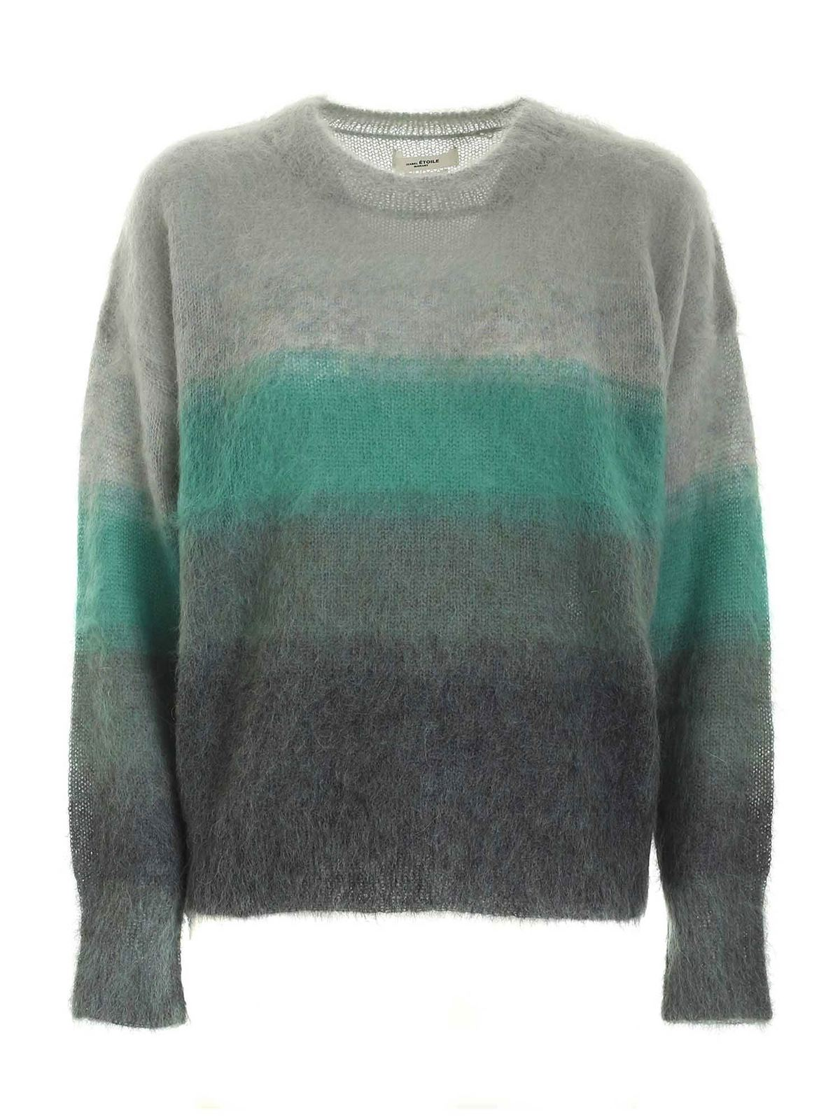 Etoile Isabel Marant DRUSSELL PULLOVER IN SHADES OF GREEN