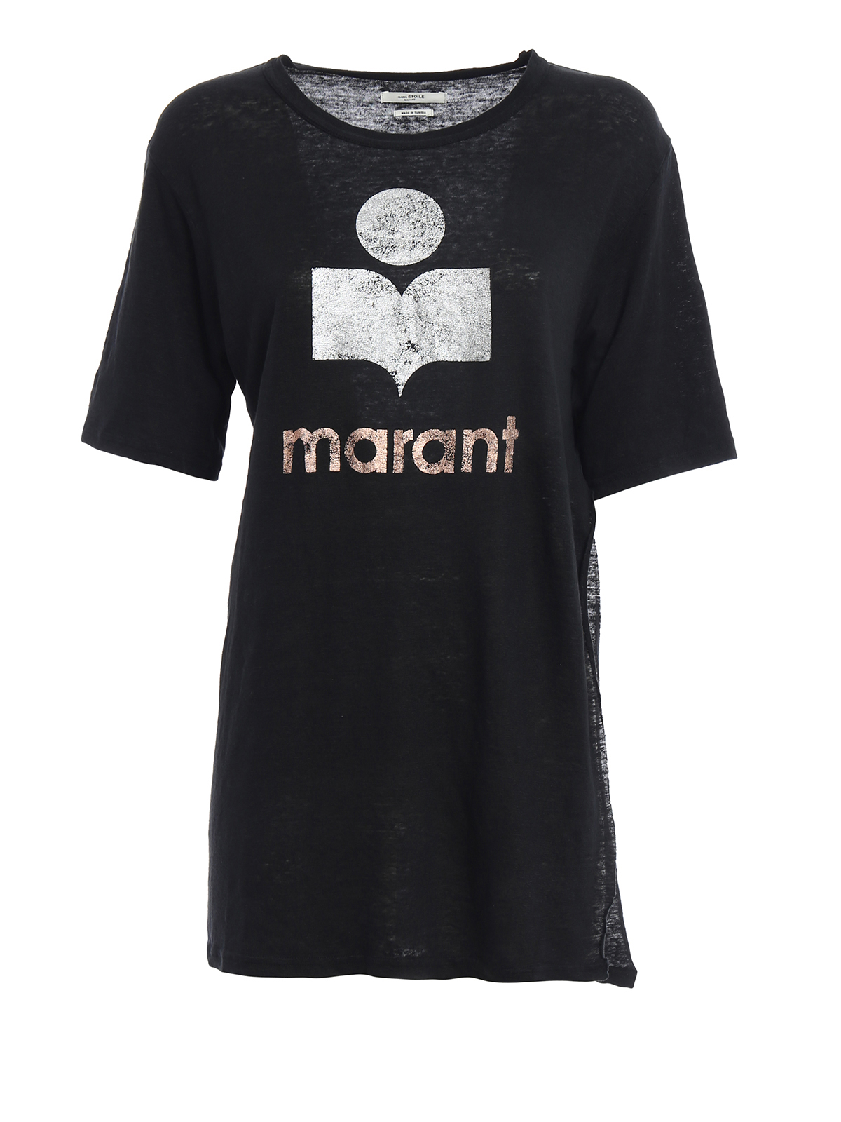 Kuta Linen Vented T Shirt By Isabel Marant Etoile T