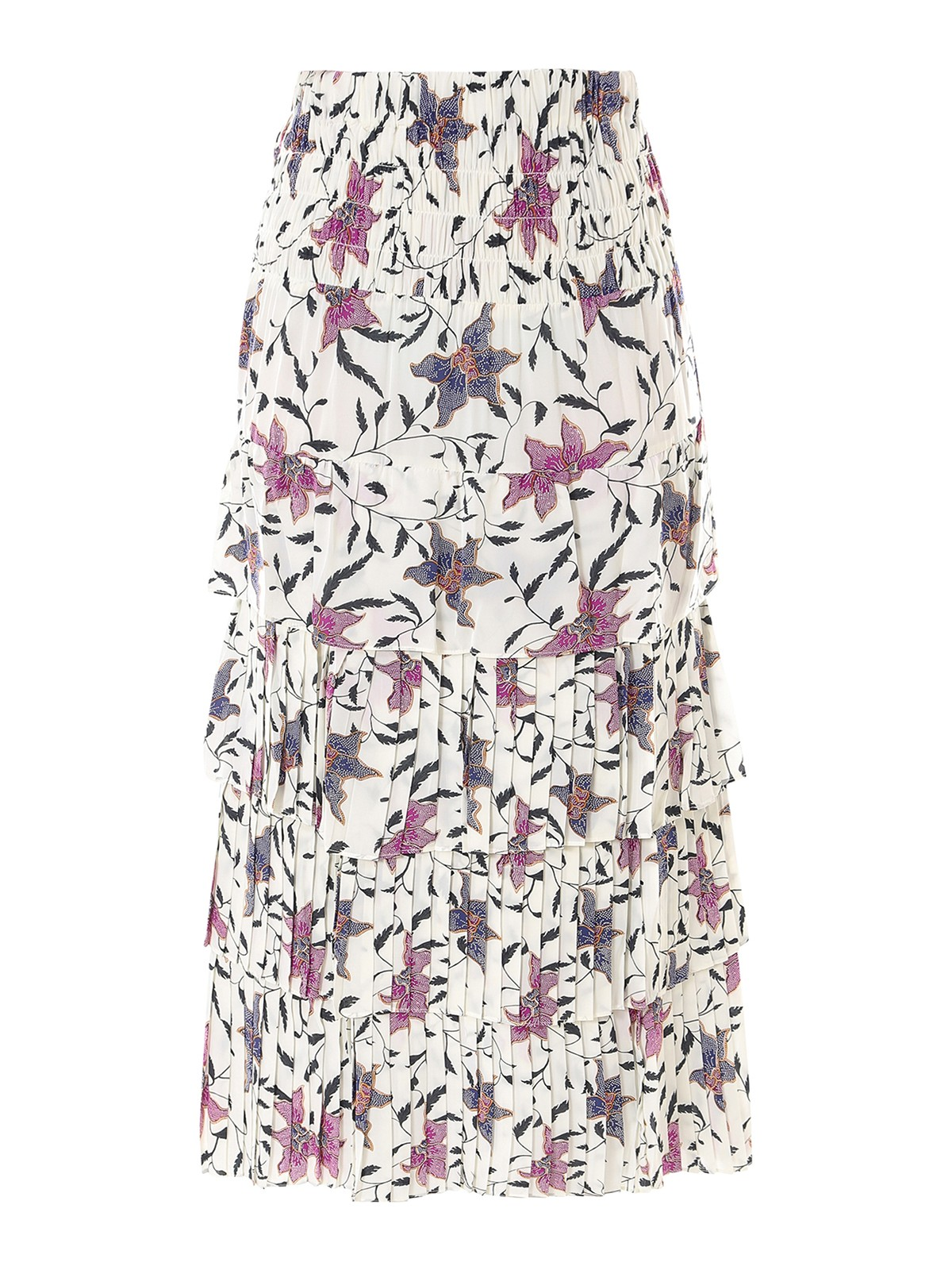 Isabel Marant RUFFLED FLORAL VISCOSE SKIRT