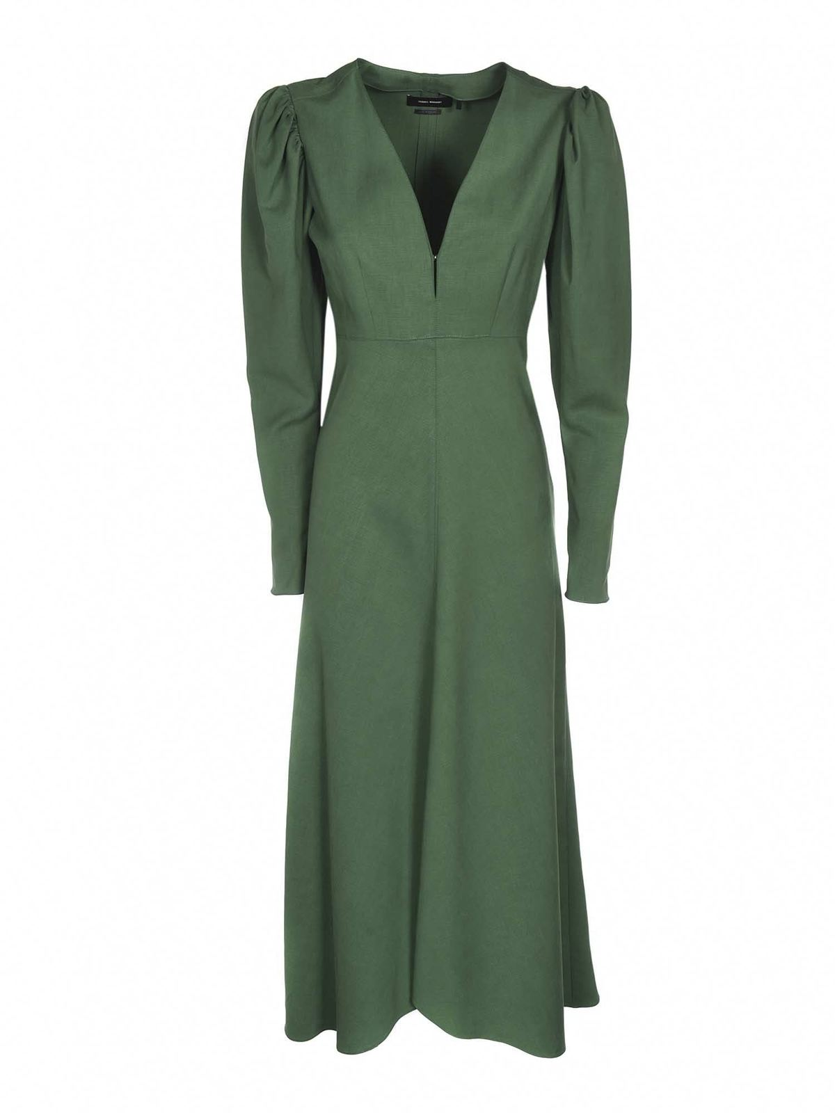 Isabel Marant Silks SILABI DRESS IN GREEN