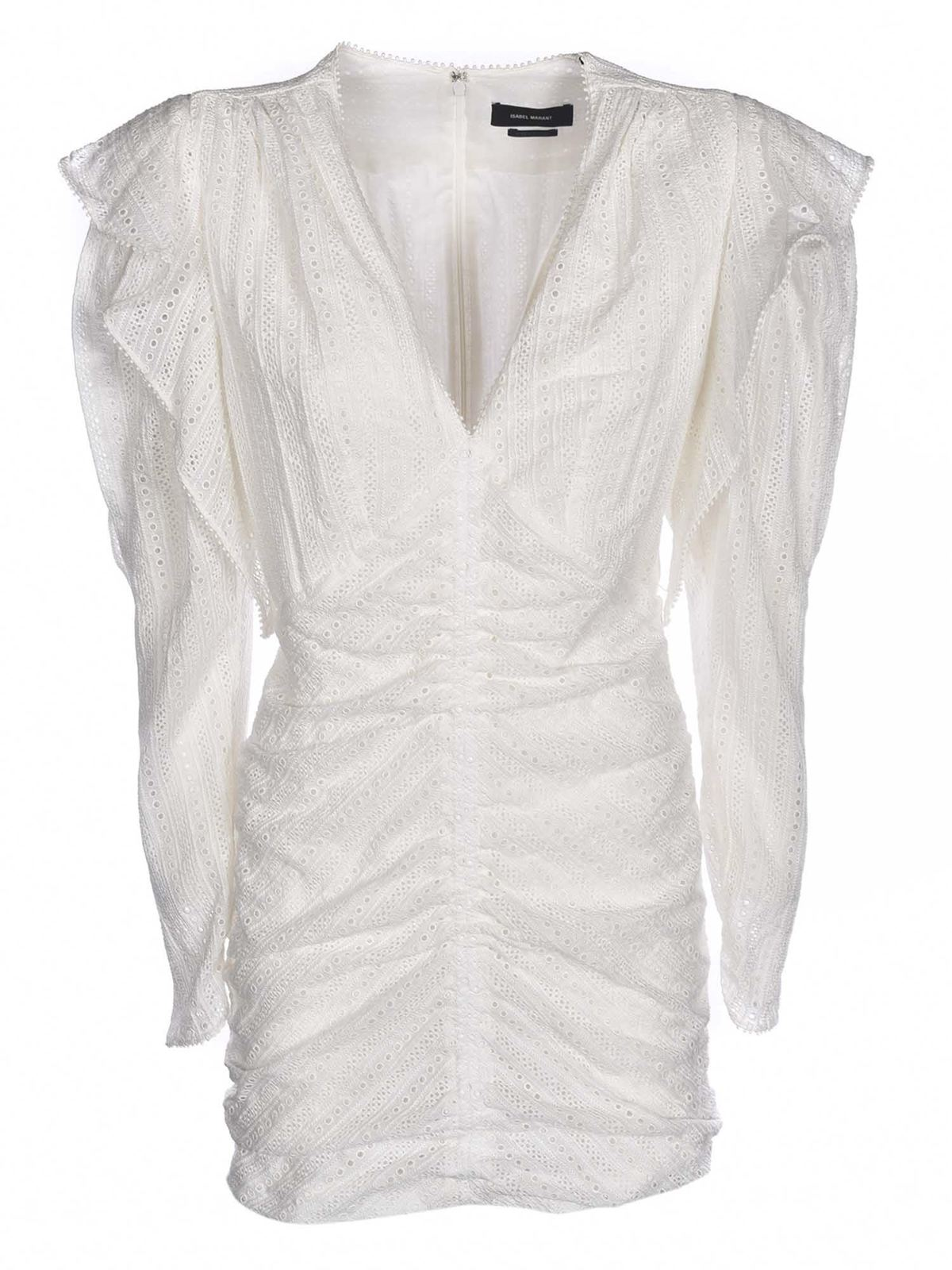 Isabel Marant Cottons GETYA DRESS IN WHITE
