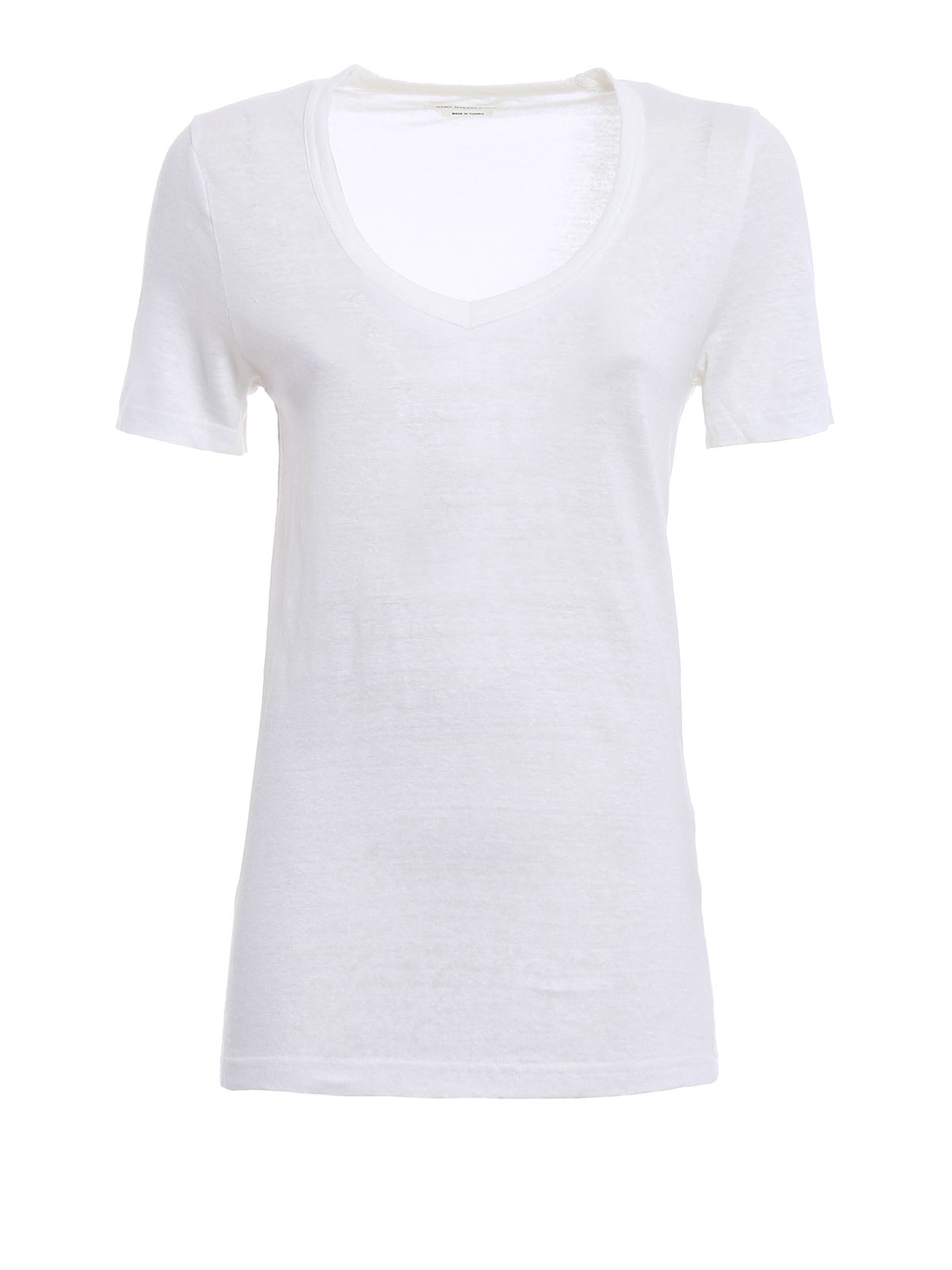 V neck linen t shirt by isabel marant t shirts ikrix for Isabel marant t shirt sale
