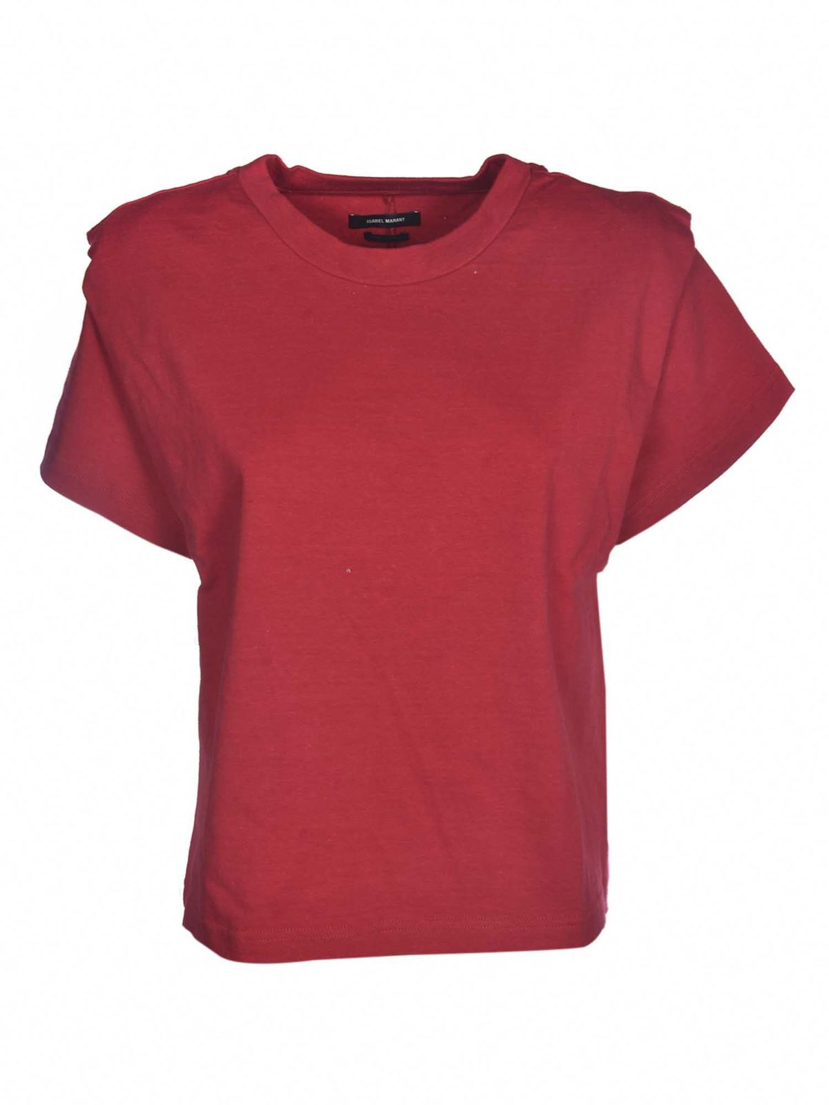 Isabel Marant Cottons ZELITOS T-SHIRT IN RED