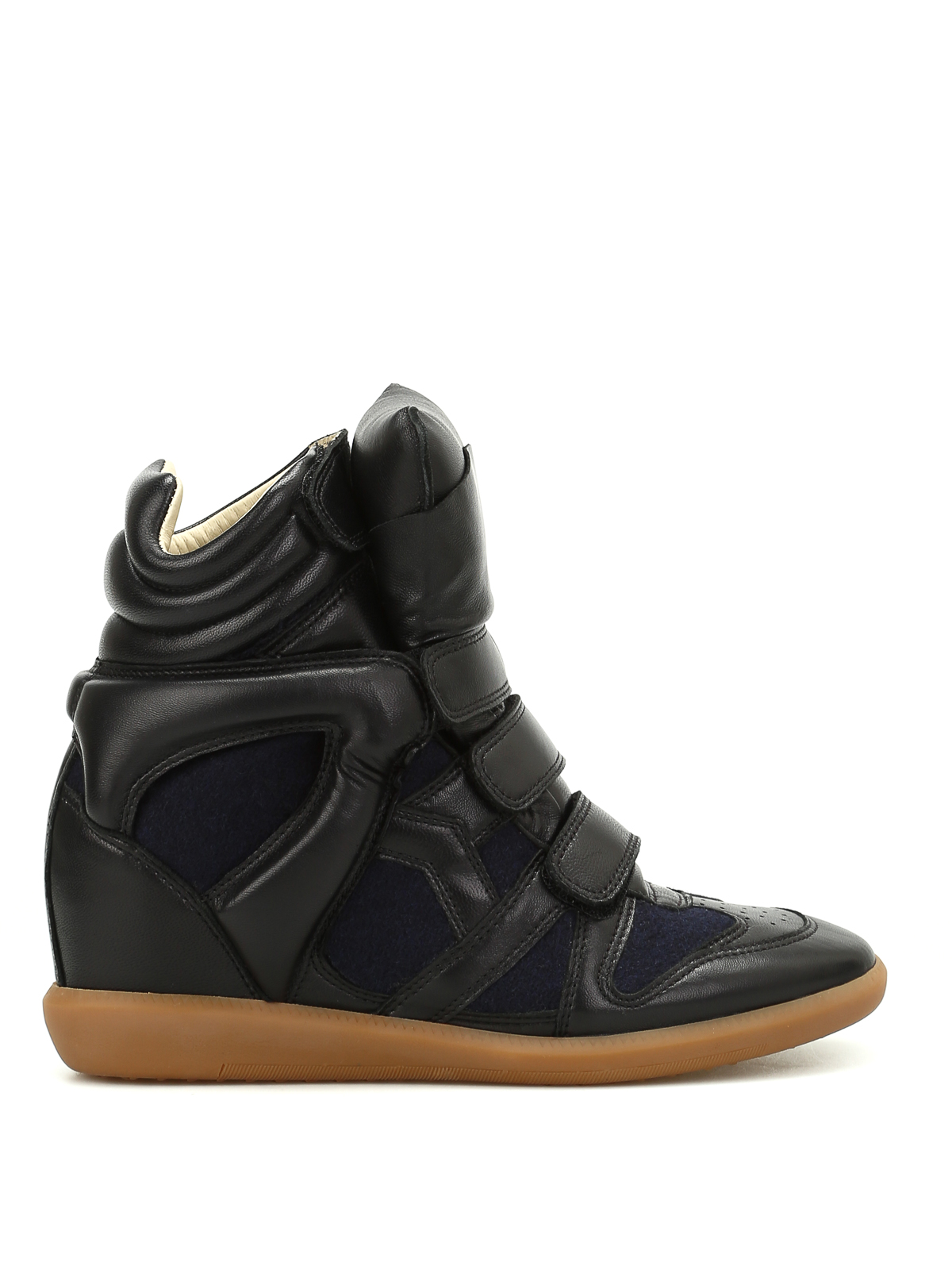 bekett flannel high top sneakers by isabel marant trainers shop online at. Black Bedroom Furniture Sets. Home Design Ideas
