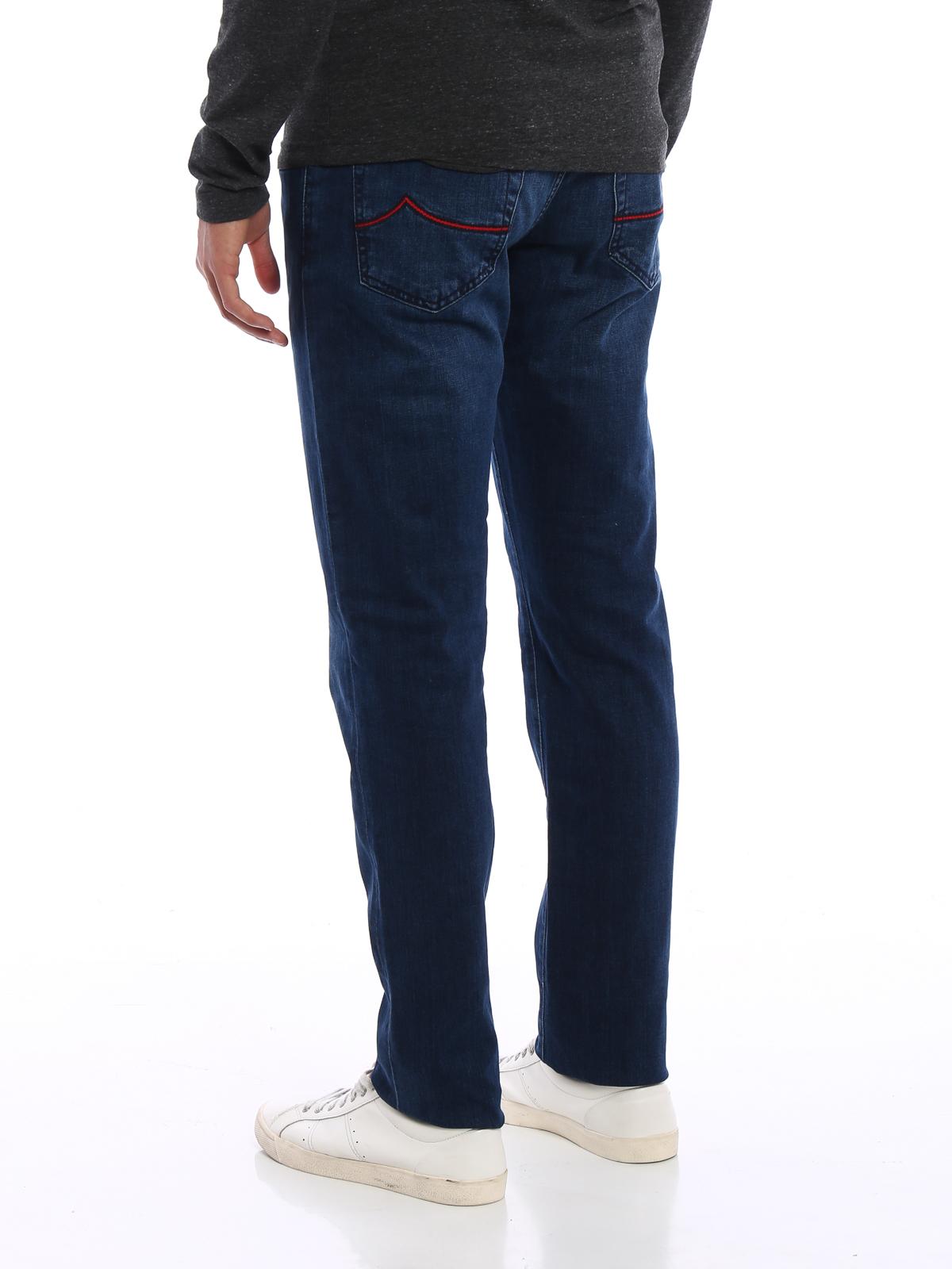 Jacob Cohen - Jean Slim Foncé Délavé Pour Homme - Jeans à jambe ... c16386ee460f