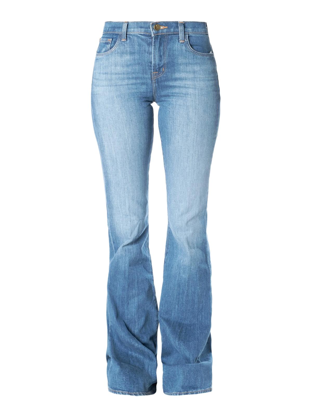 J Brand Faded Denim Bootcut Jeans In Medium Wash