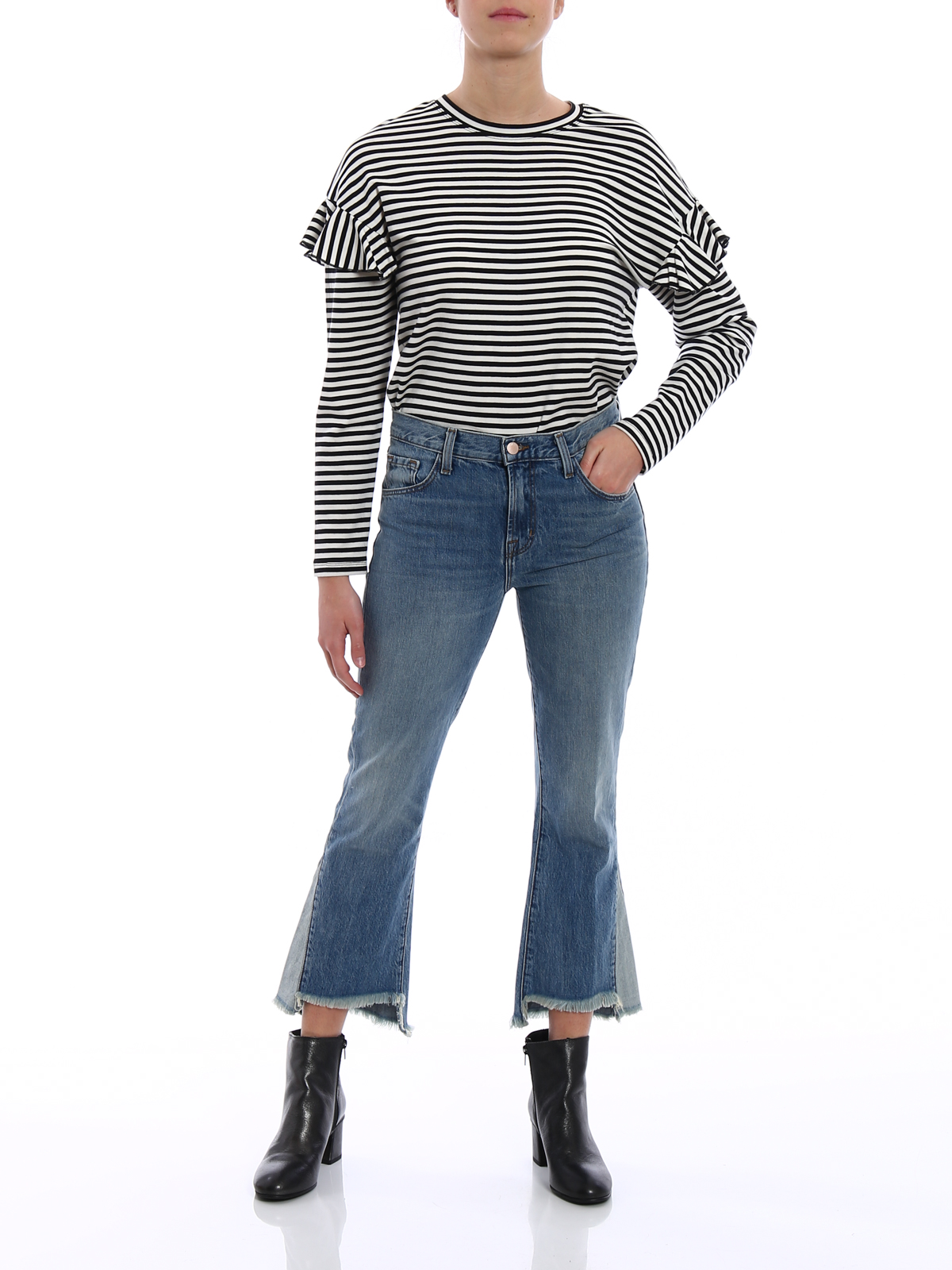Aubrie high-rise cropped jeans J Brand Clearance Discounts Top Quality For Sale Buy Authentic Online Fake For Sale 18n7JaEs