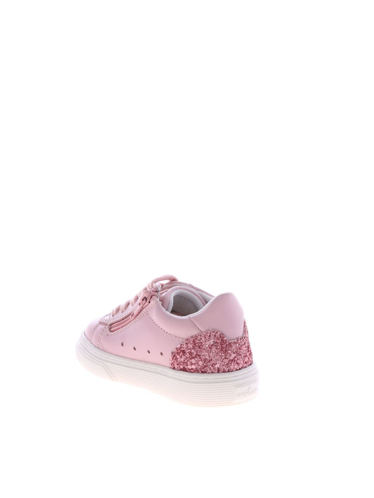 Hogan Junior - J340 sneakers in pink with glitter - trainers ...