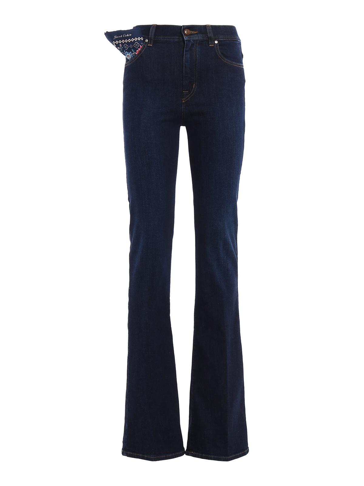 linda high rise jeans by jacob cohen bootcut jeans ikrix. Black Bedroom Furniture Sets. Home Design Ideas
